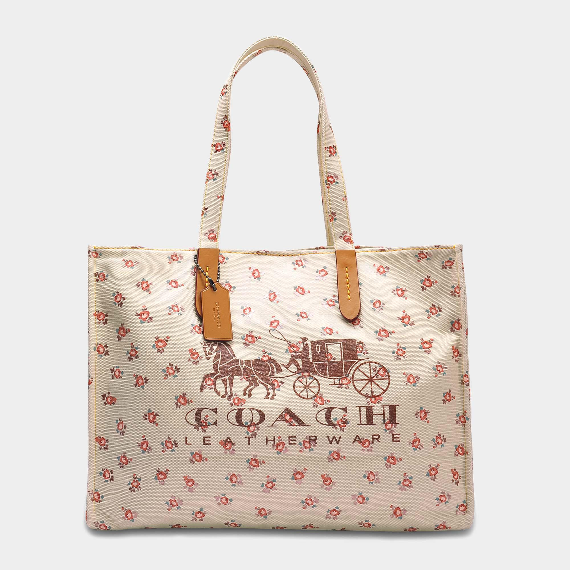 2d52a18514 ... switzerland lyst coach horse and carriage 42 tote bag in white canvas  save c3bf6 26cd5