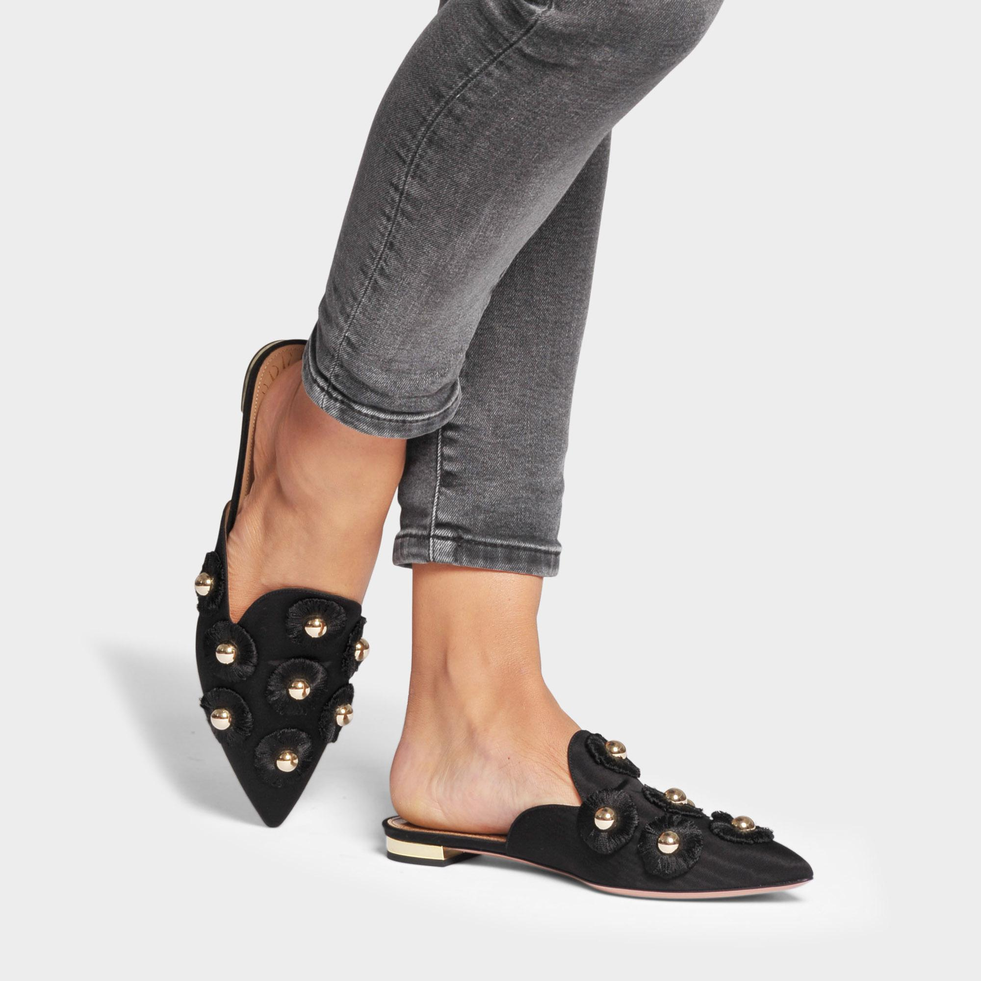 info for f0a71 7c334 aquazzura--Sunflower-Flat-Shoes-In-Black-Moire-Fabric.jpeg