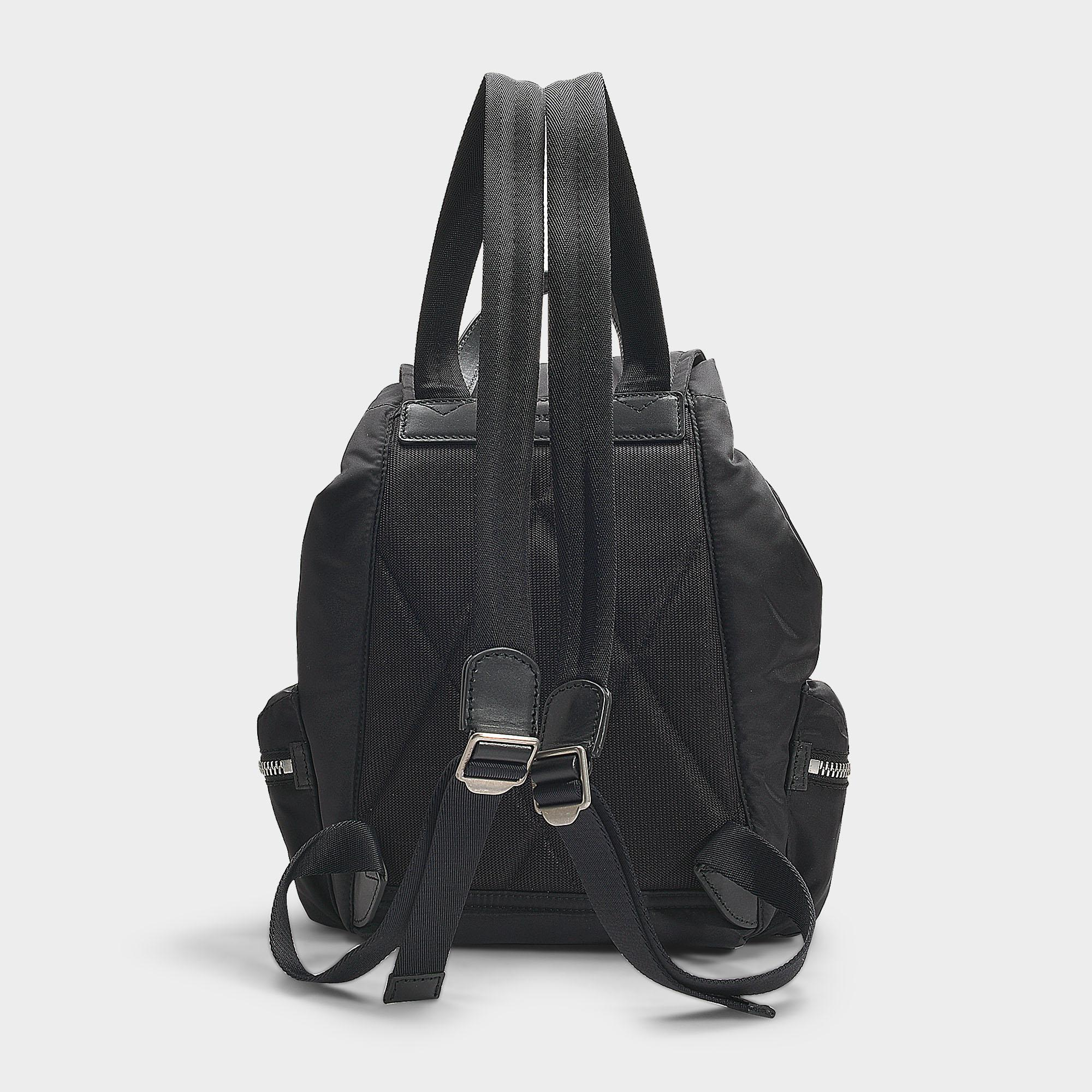 4b85cc2be59c Burberry The Medium Rucksack In Puffer Nylon And Leather in Black - Save 4%  - Lyst