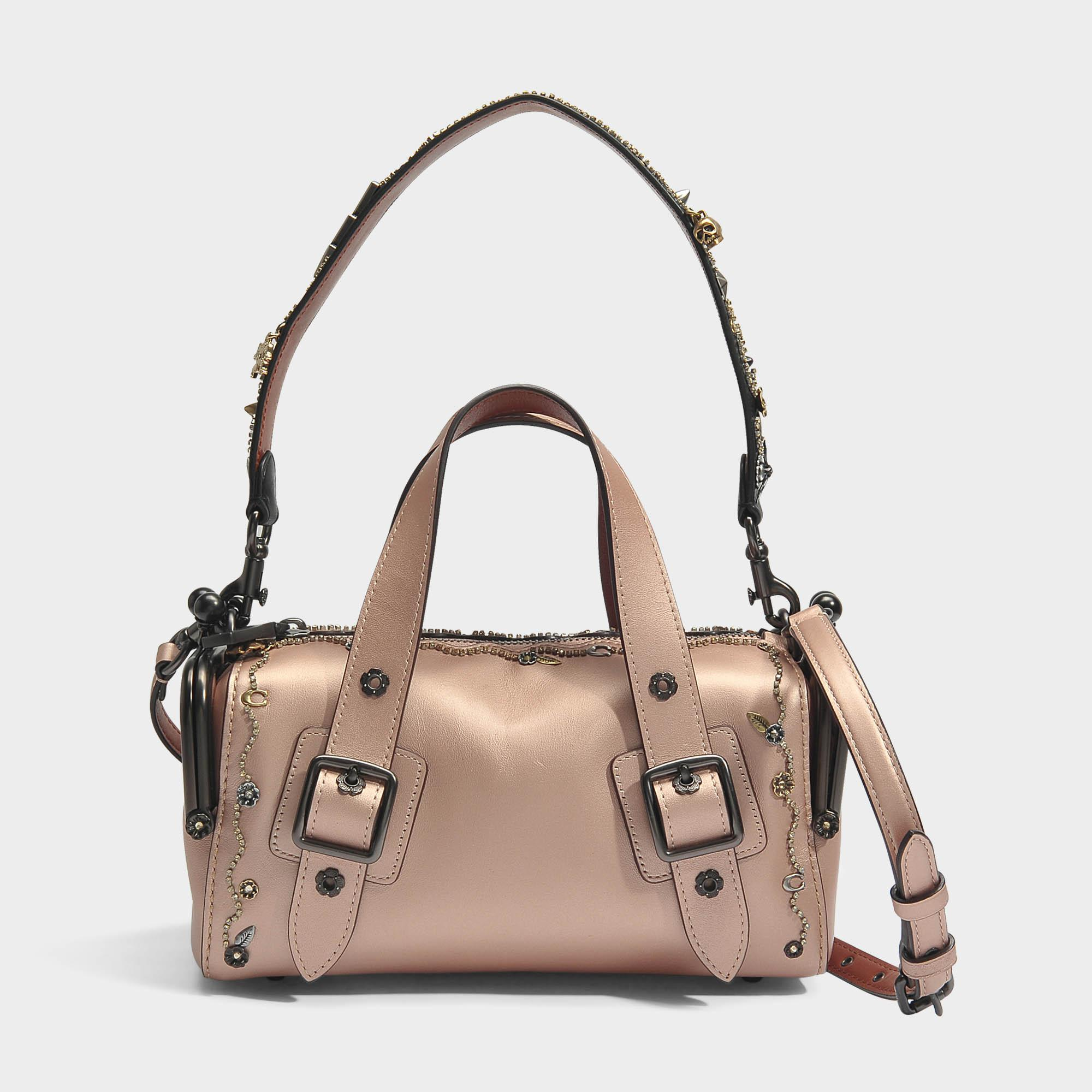 Mailbox Bag 24 in Rose Gold Grained Leather Coach hAWmmp