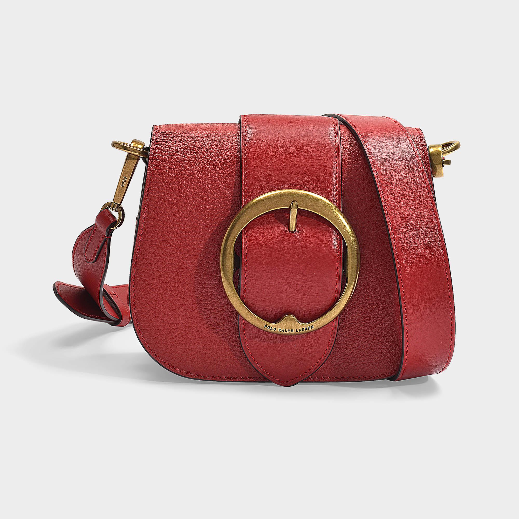 40d517ad8b Lyst - Polo Ralph Lauren Lennox Medium Crossbody Bag In Scarlet ...