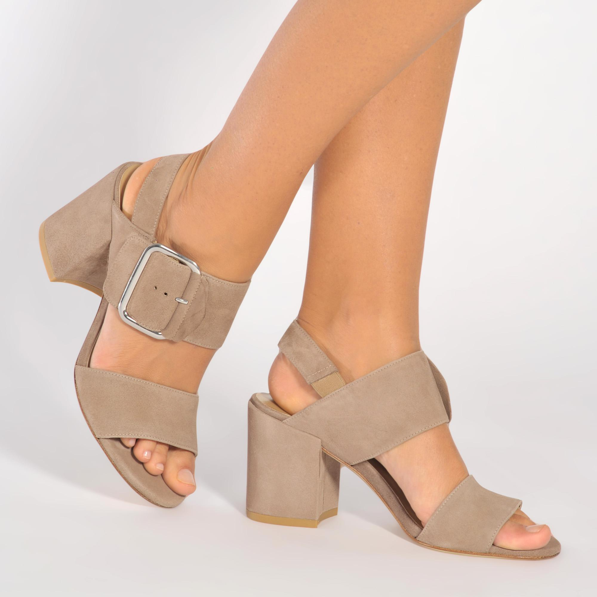 Stuart Weitzman Nudist Patent Leather DOrsay Sandals in