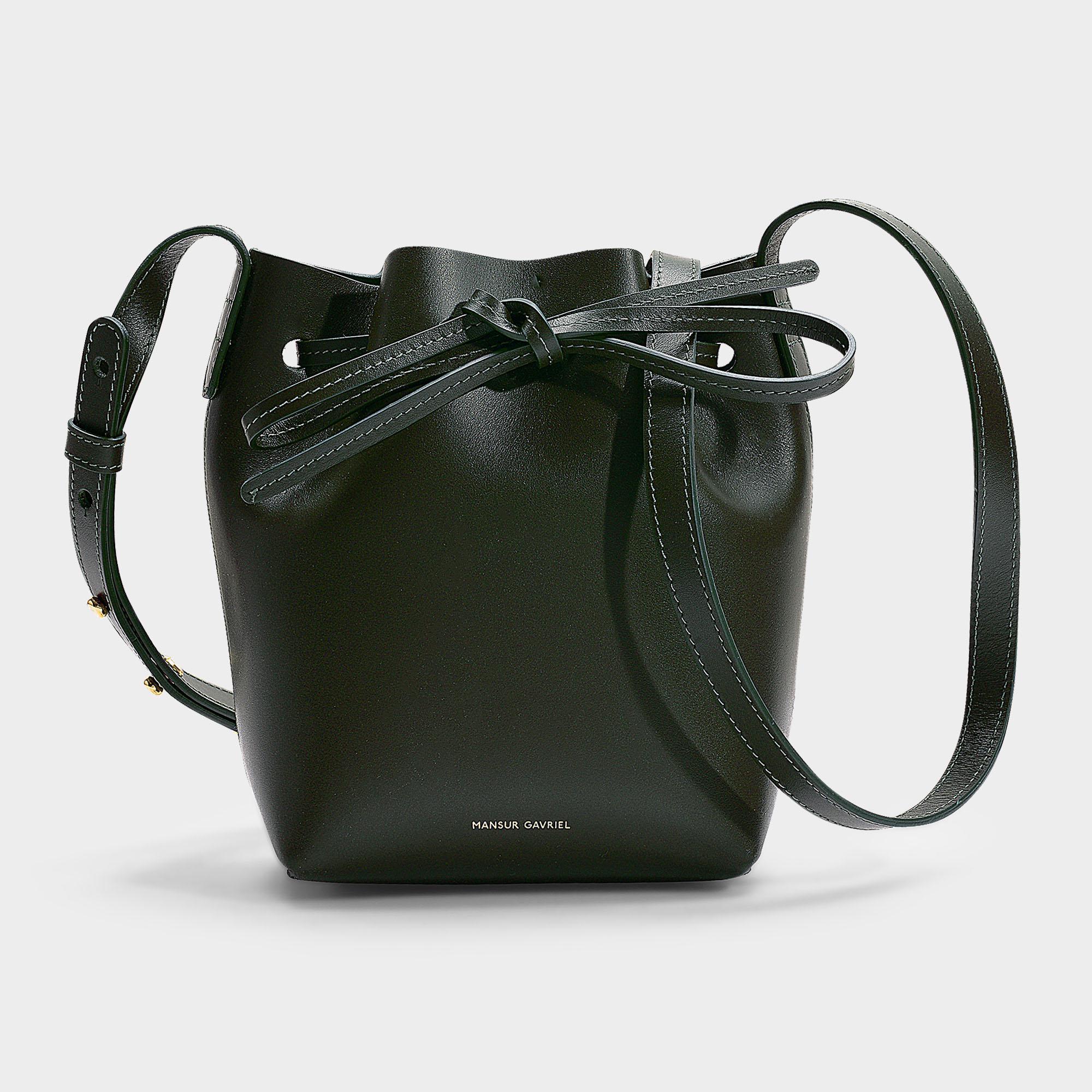 5041b4af8154 Mansur Gavriel - Mini Mini Bucket Bag In Green Calfskin - Lyst. View  fullscreen