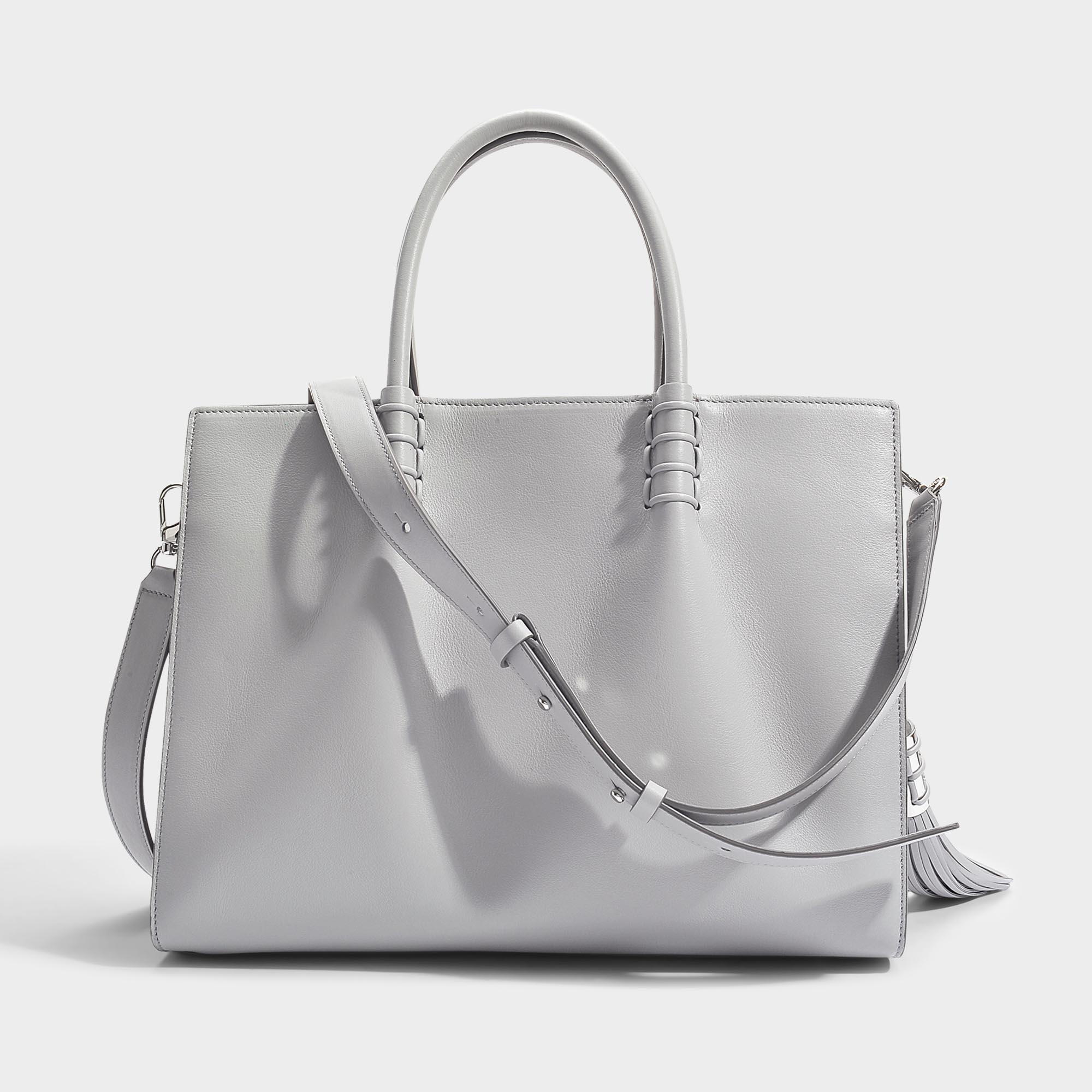 Pay With Paypal Cheap Price Outlet Low Shipping Fee Lady Moc Large Shopping Bag in Grey Calfskin Tod's Z89PwwNe