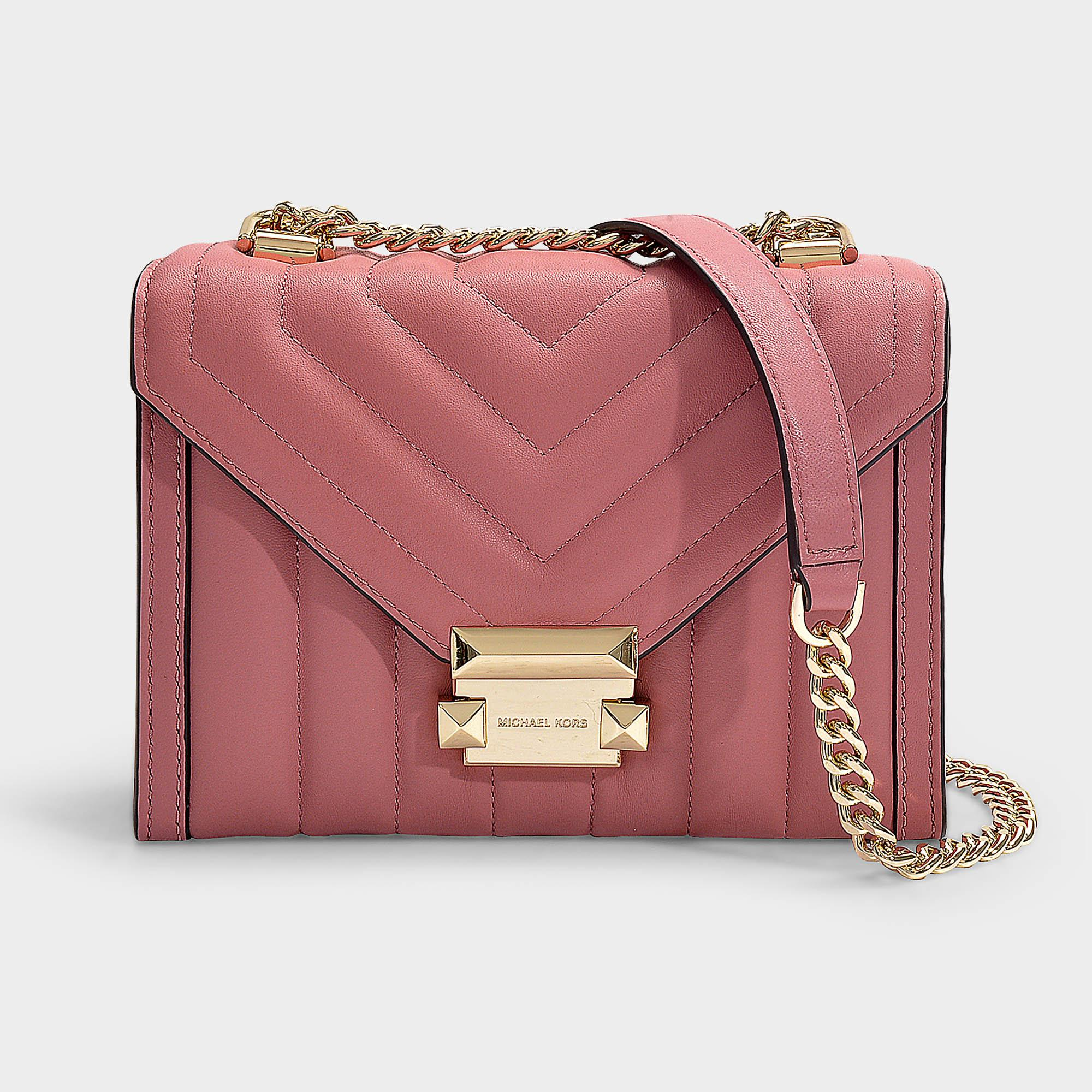ed90810bbe Lyst - MICHAEL Michael Kors Whitney Small Shoulder Bag In Rose ...