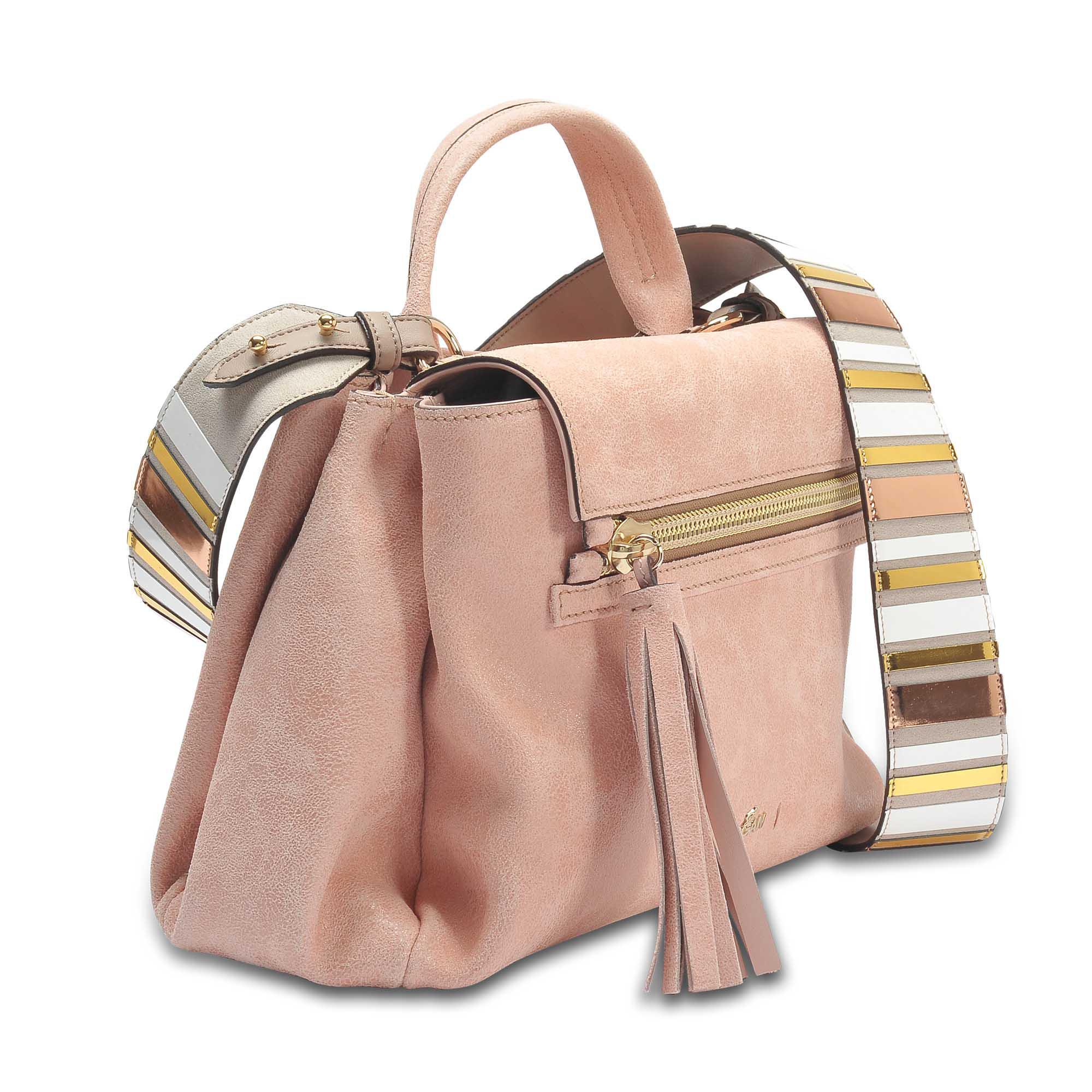 f03892d4d Hogan Horizonal Mini Tote Bag In Salmon Pink Grained Leather - Lyst