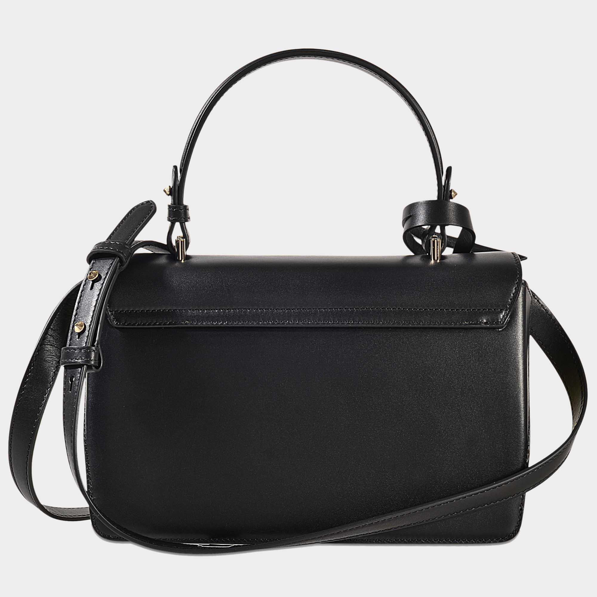 aea0993a065 ... Calfskin Reebonz  new style 52026 7d0bb Lyst - Versace The Dv1 Small Handbag  Crossbody in Black ...