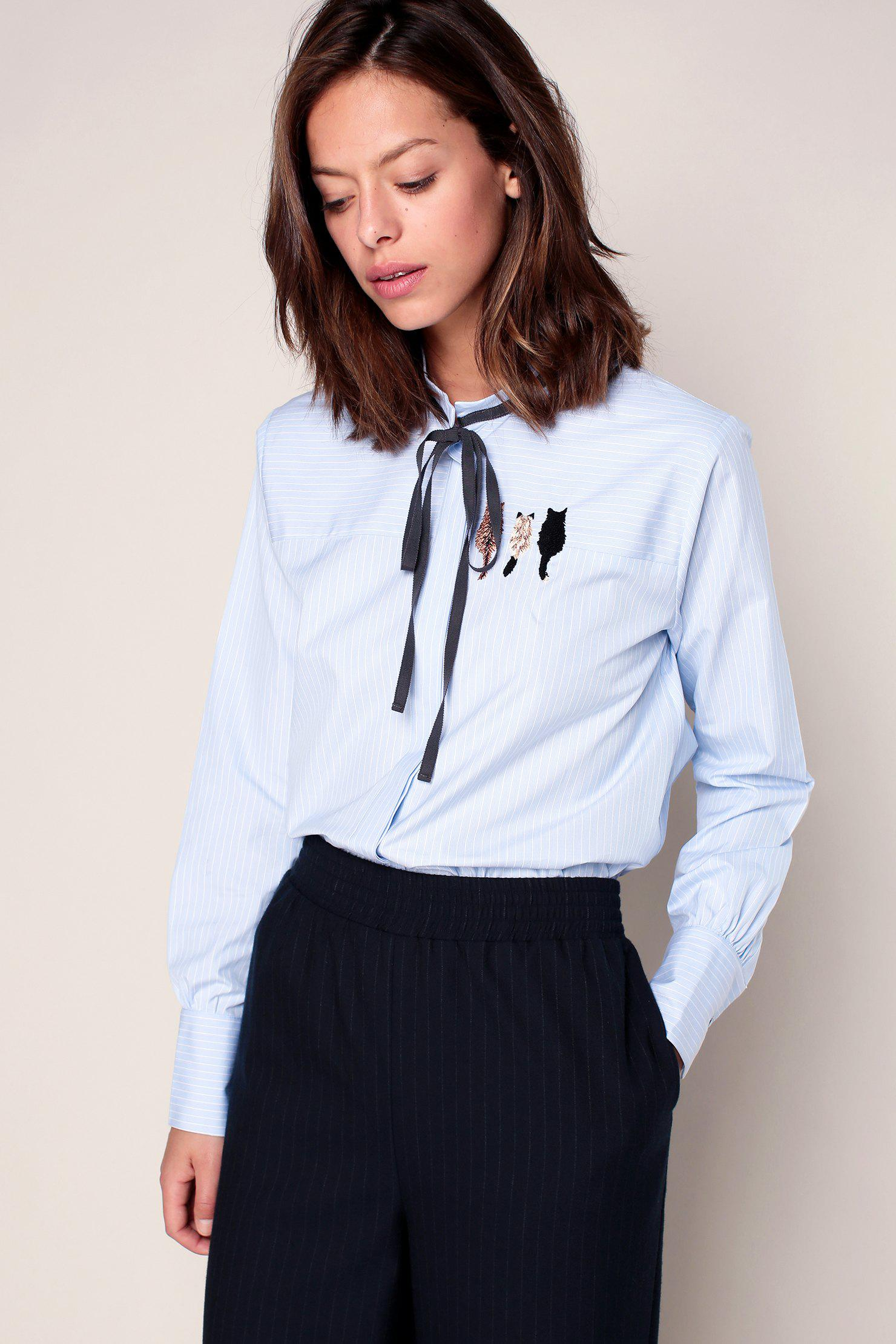 lyst paul joe blouses in white. Black Bedroom Furniture Sets. Home Design Ideas