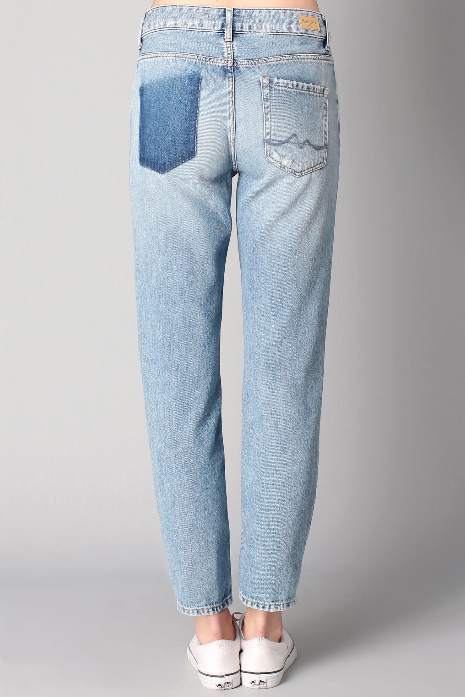 Lyst pepe jeans boyfriend jeans in blue - Pepe jeans showroom ...