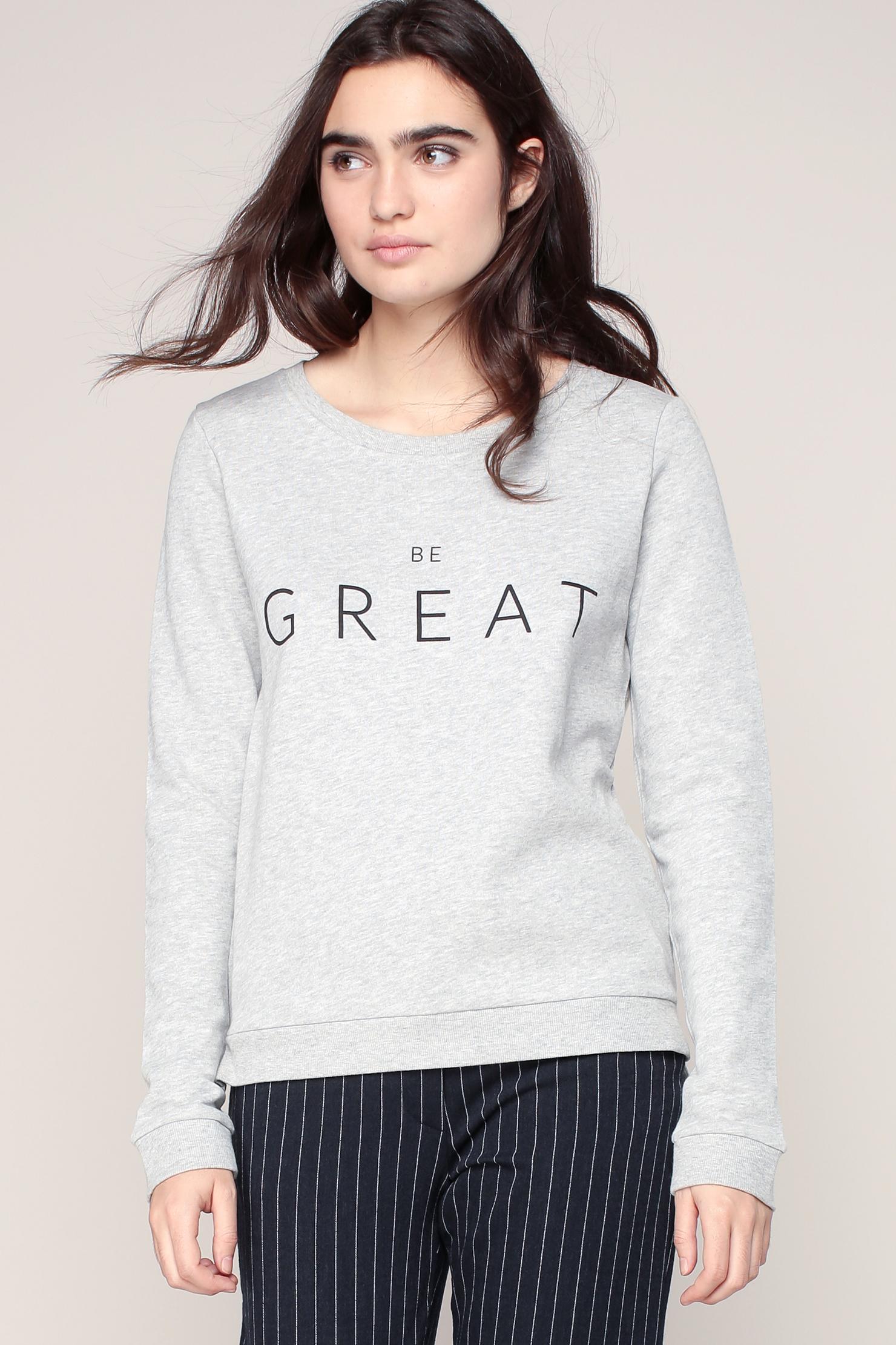 Lyst Only Sweatshirt In Gray