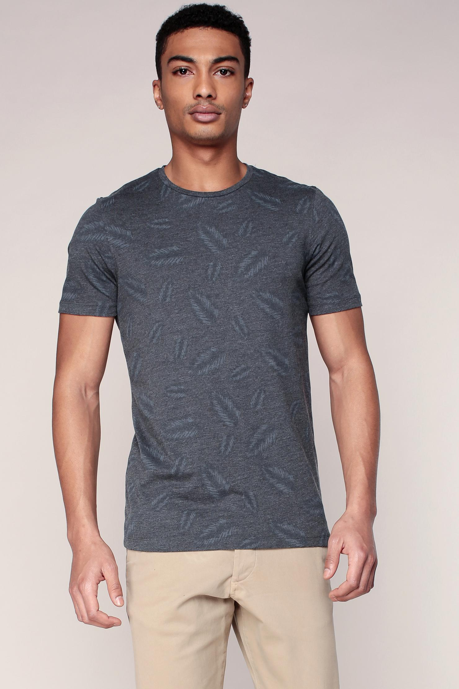lyst jack jones t shirt in gray for men. Black Bedroom Furniture Sets. Home Design Ideas