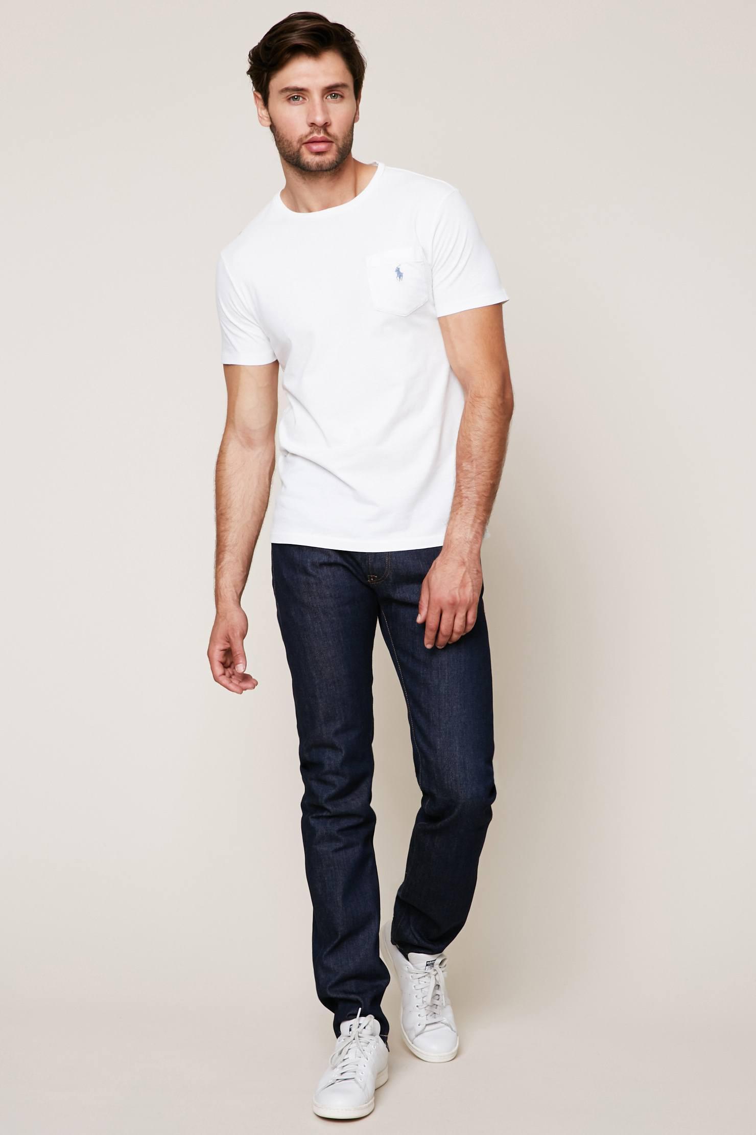 lyst polo ralph lauren t shirt in white for men. Black Bedroom Furniture Sets. Home Design Ideas