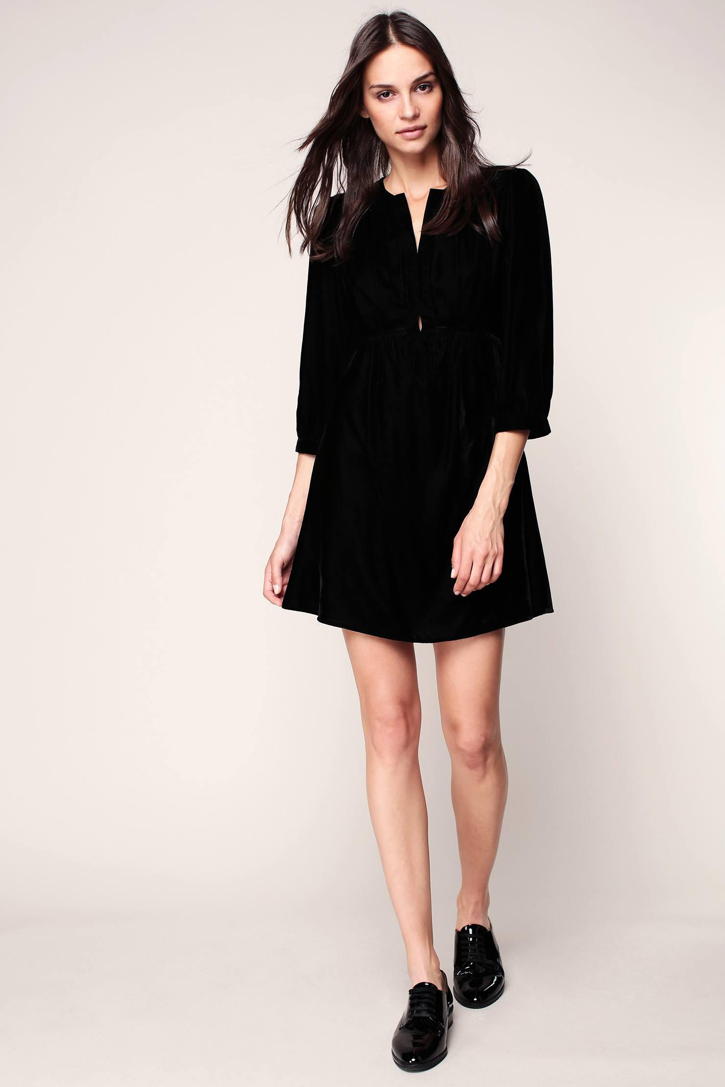 Lyst bash short dress in black for Robe de reve