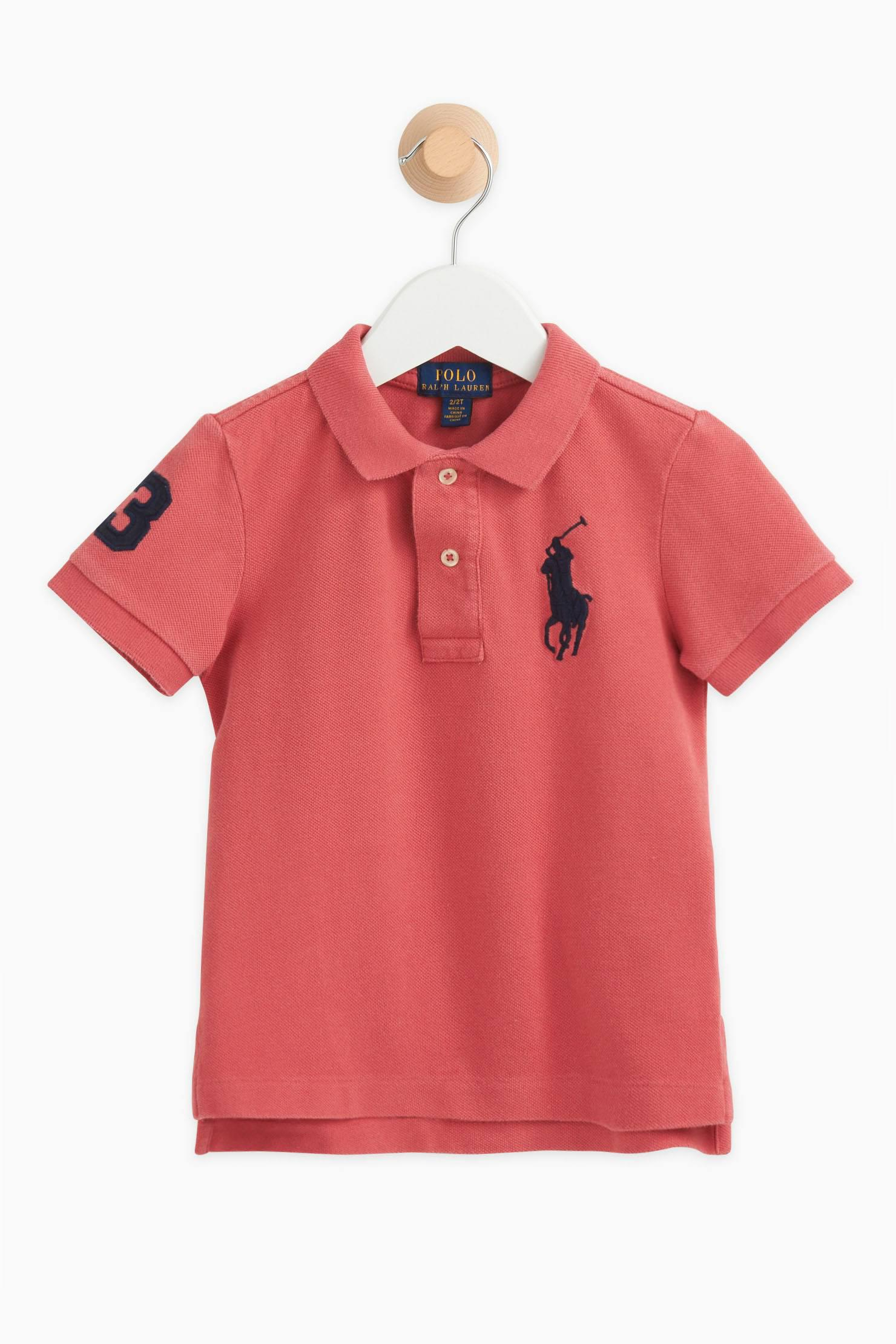 polo ralph lauren t shirt polo shirt in red for men lyst. Black Bedroom Furniture Sets. Home Design Ideas