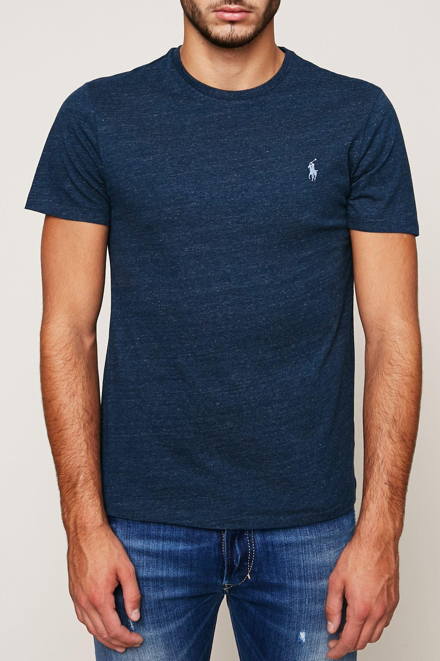 polo ralph lauren t shirt in blue for men lyst. Black Bedroom Furniture Sets. Home Design Ideas