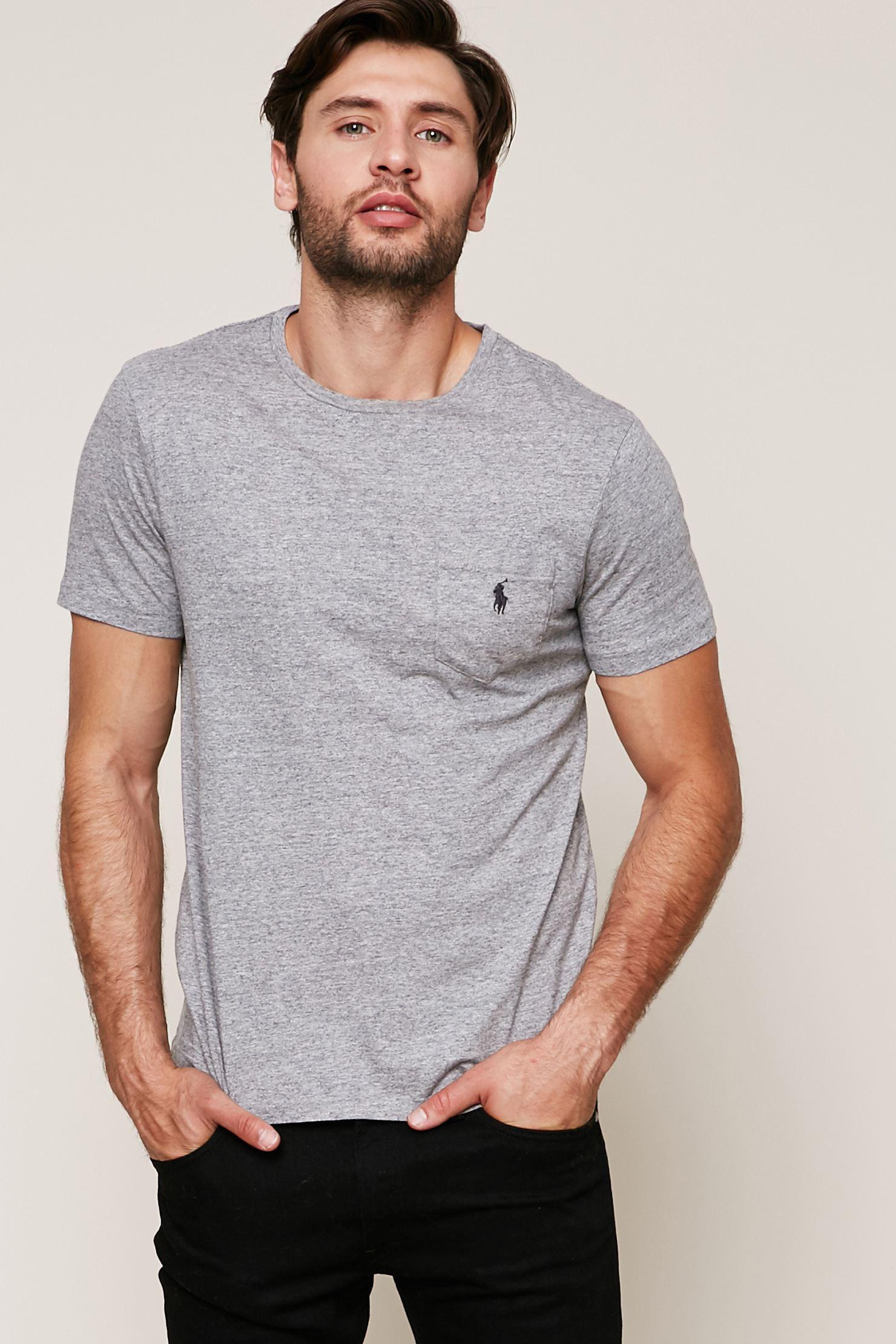 lyst polo ralph lauren t shirt in gray for men. Black Bedroom Furniture Sets. Home Design Ideas