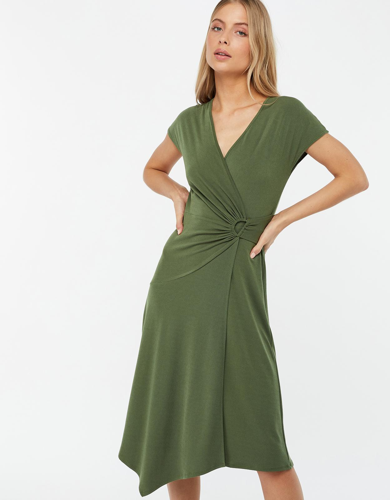 31e7346677f8 Monsoon Green 'katy' D Ring Jersey Midi Dress in Green - Save 27% - Lyst
