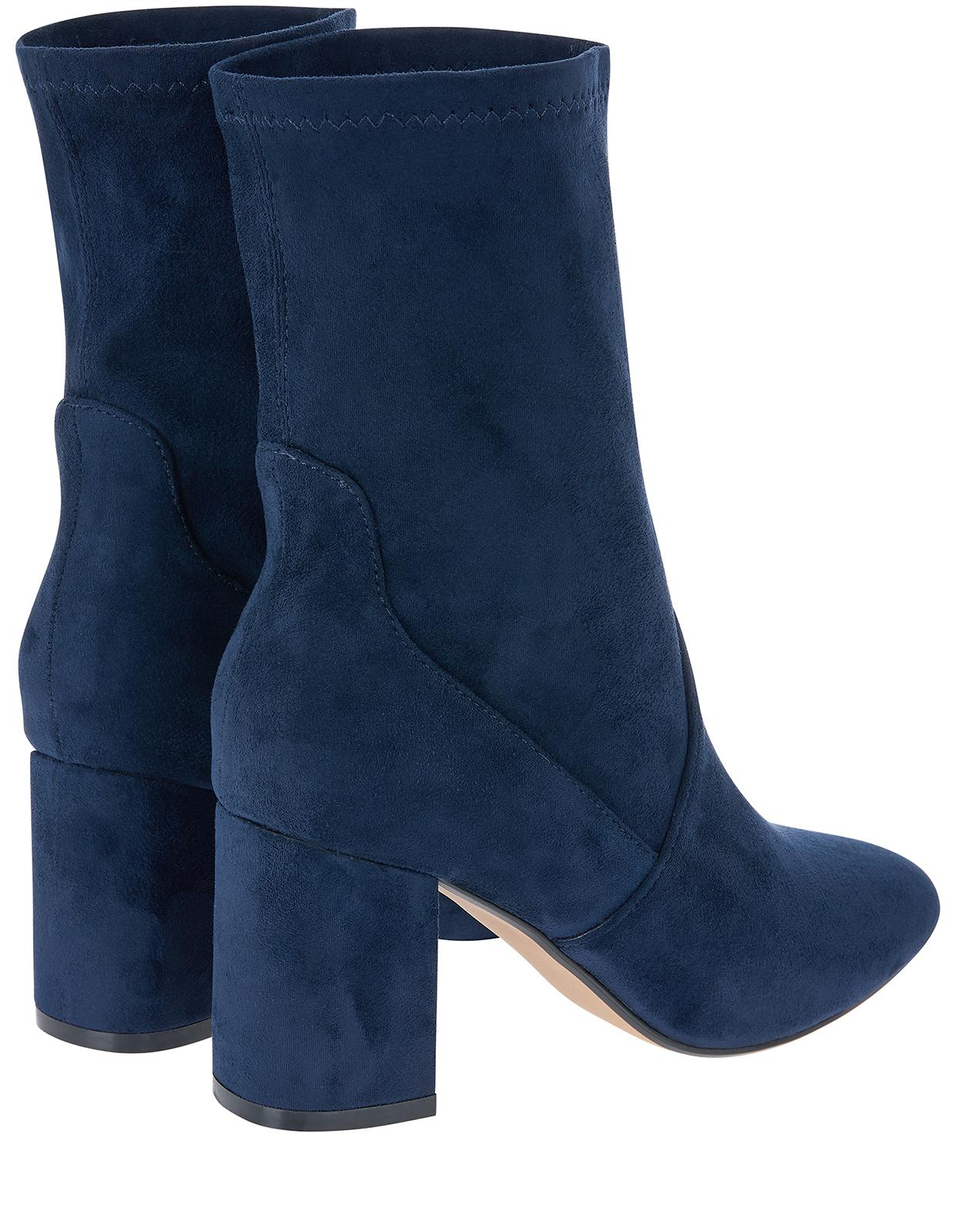 Monsoon Synthetic Samantha Sock Boots in Navy (Blue)