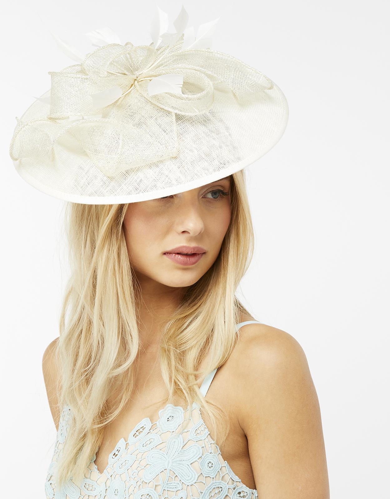 b8420d8f141ff Wedding Hats And Fascinators Monsoon - Parchment N Lead