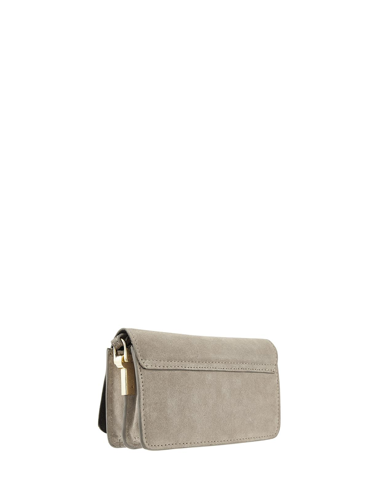 Monsoon Suede Mabel Mini Leaf Leather Cross Body Bag in Grey (Grey)