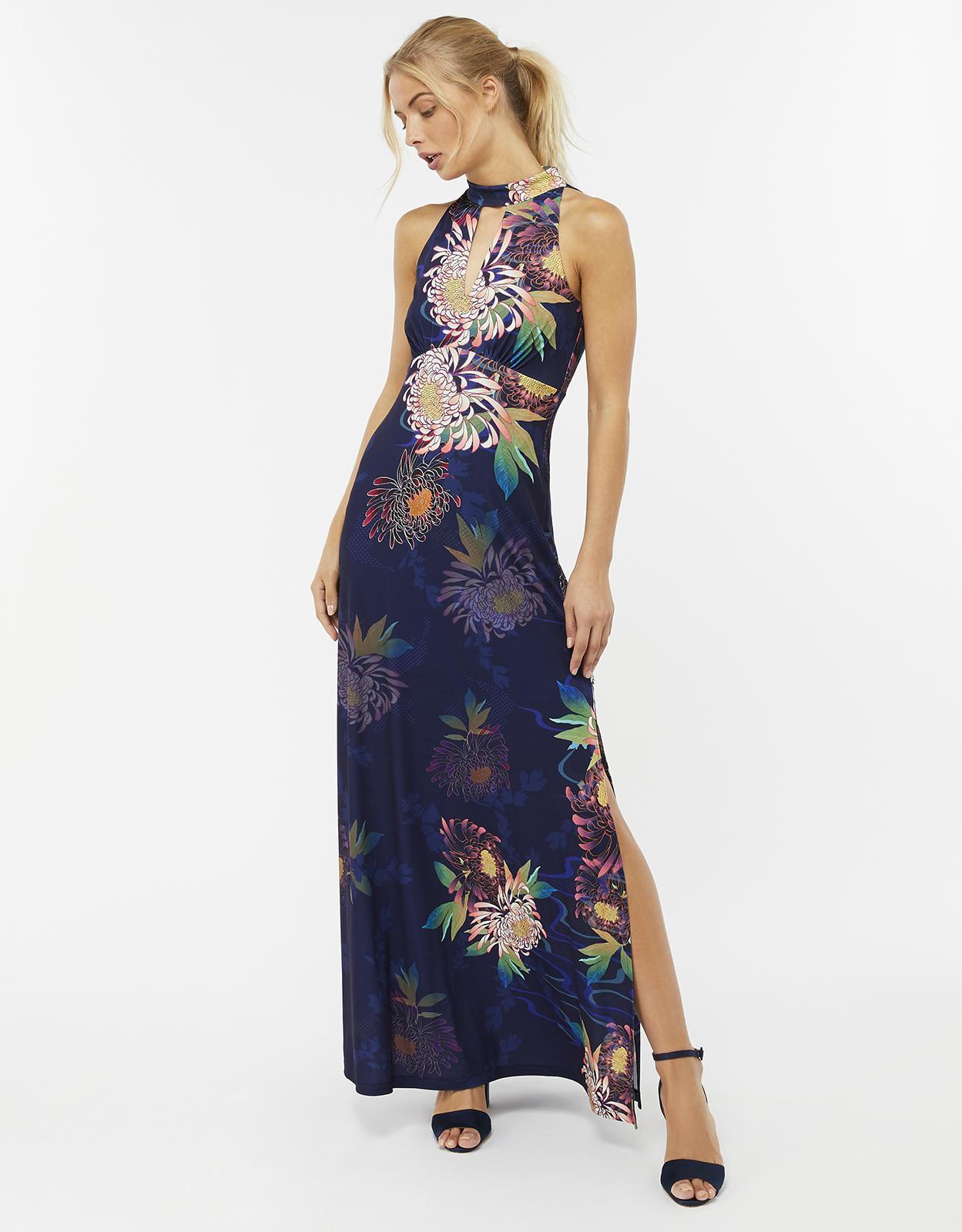 639799c24633 Monsoon Jasmine Print Maxi Dress in Blue - Lyst