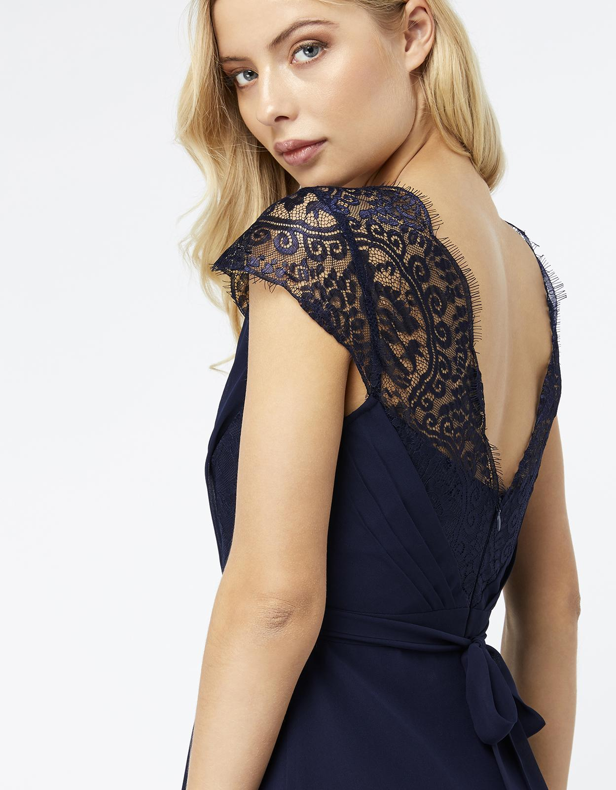 b69a5189c9f Monsoon Brigitte Lace Maxi Dress in Blue - Lyst