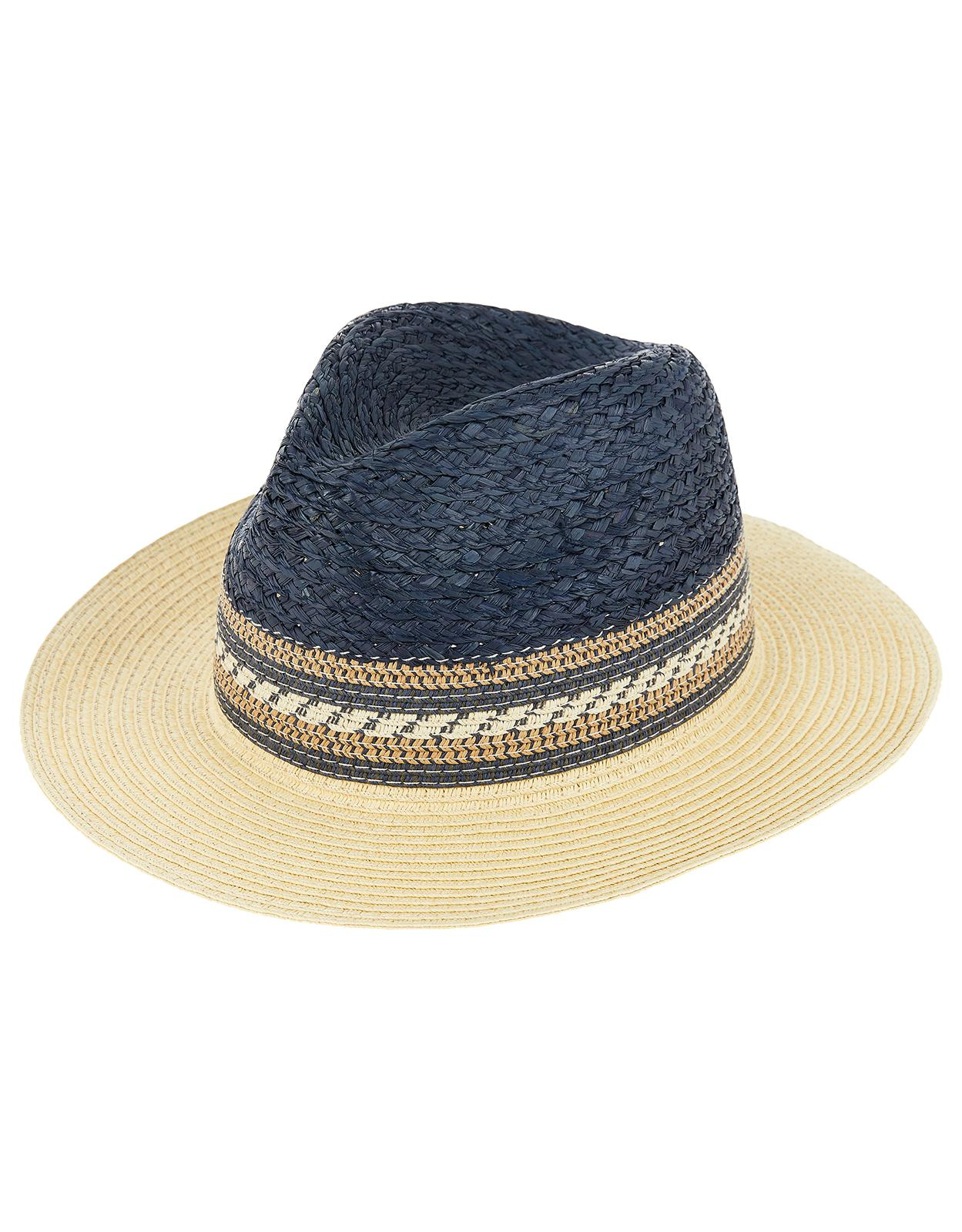 3e892d32974094 Monsoon Callie Colour Block Fedora Hat in Blue - Lyst