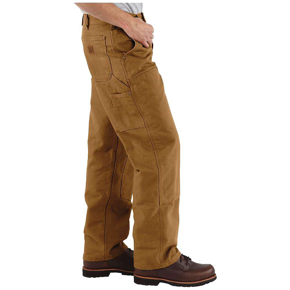 de62ded338f3 Carhartt - Brown Washed Duck Double Front Work Dungaree Pant for Men -  Lyst. View fullscreen