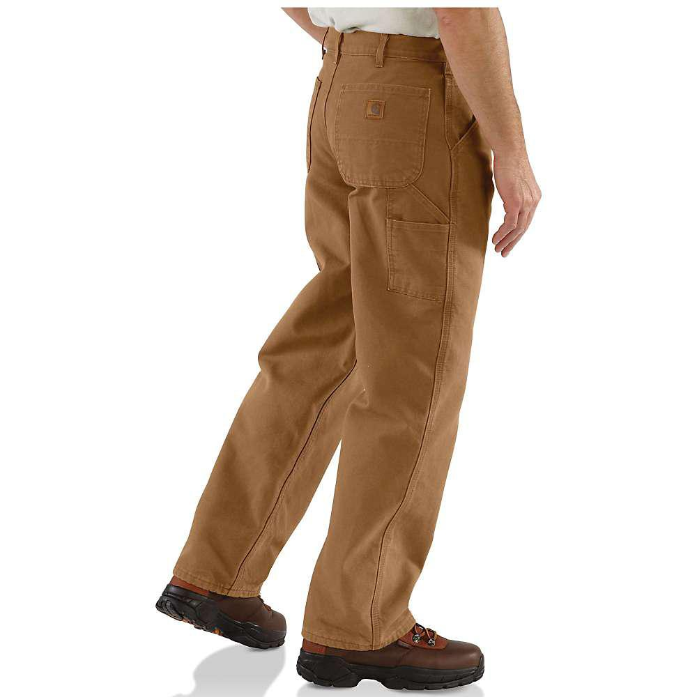 585cad70a71a Carhartt - Brown Washed Duck Work Dungaree Flannel Lined Pant for Men -  Lyst. View fullscreen