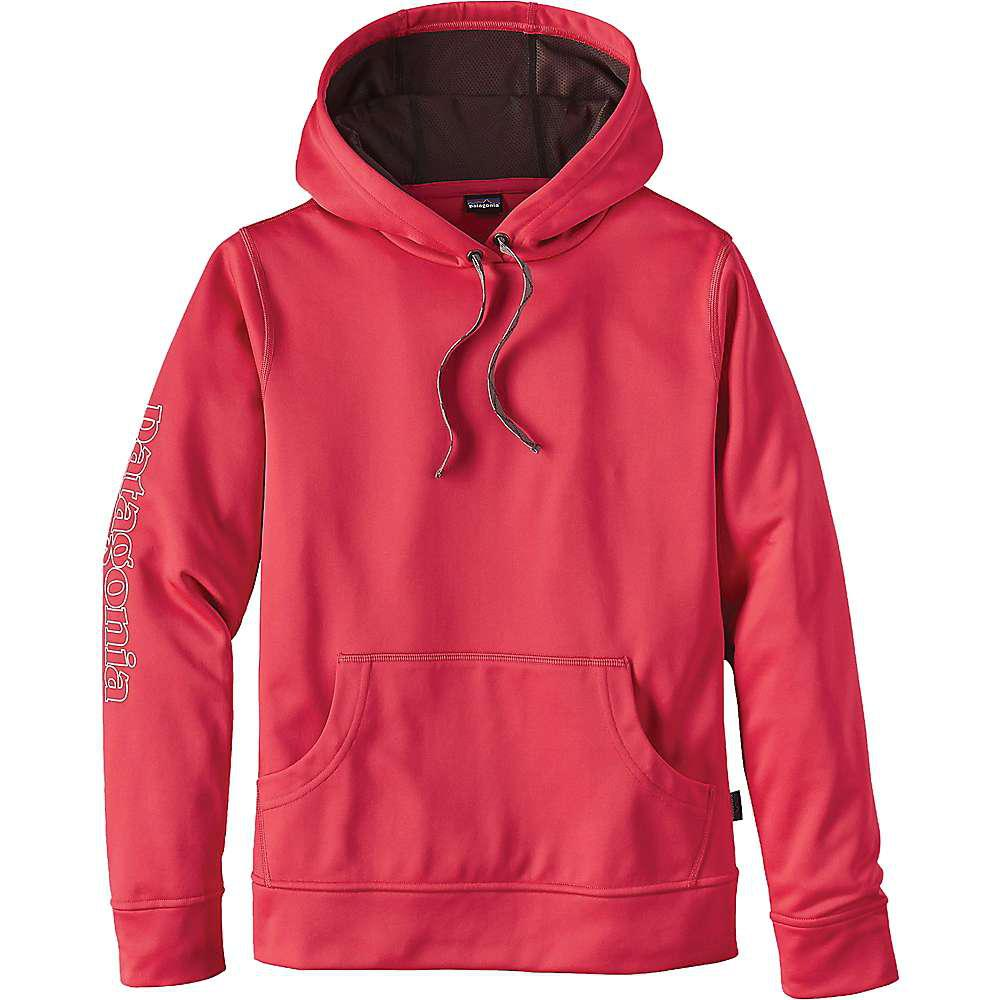 2018 shoes 50% off quality products Patagonia Outline Text Logo Polycycle Hoody in Cerise (Red) - Lyst