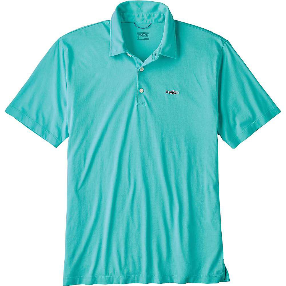 dcc192c97 Lyst - Patagonia Trout Fitz Roy Polo in Blue for Men