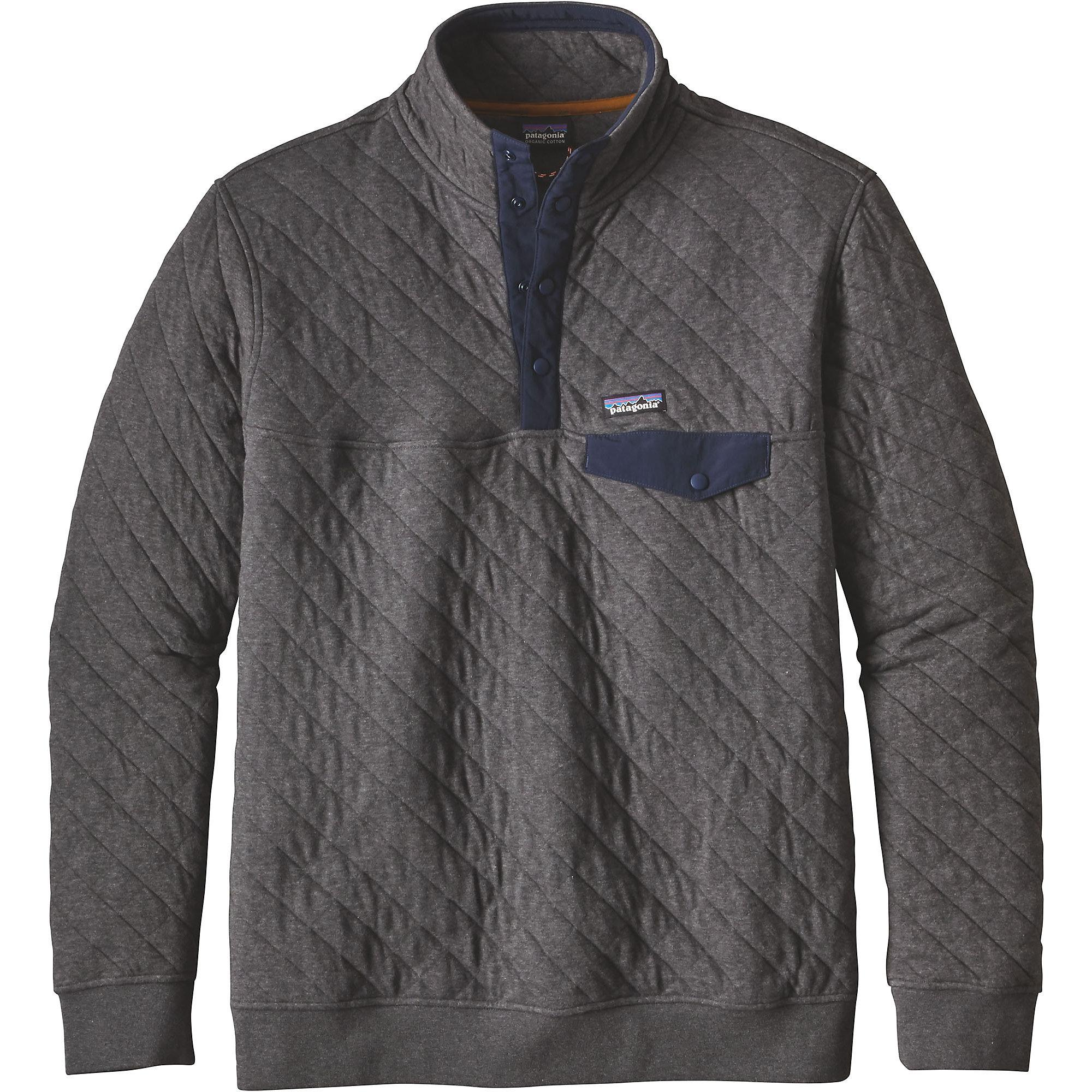 Patagonia Cotton Quilt Snap T Pullover In Gray For Men