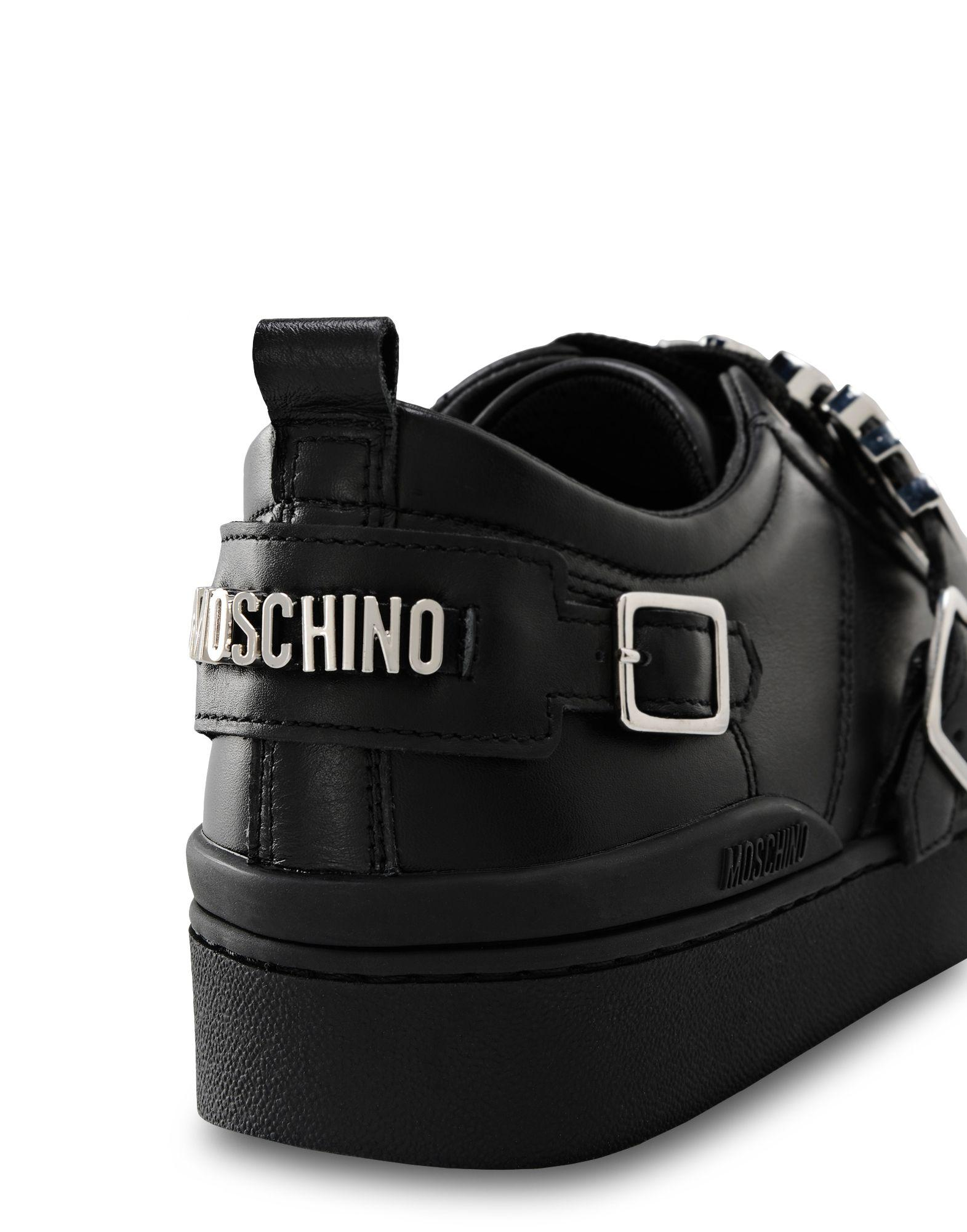 Moschino Leather Sneakers in Black