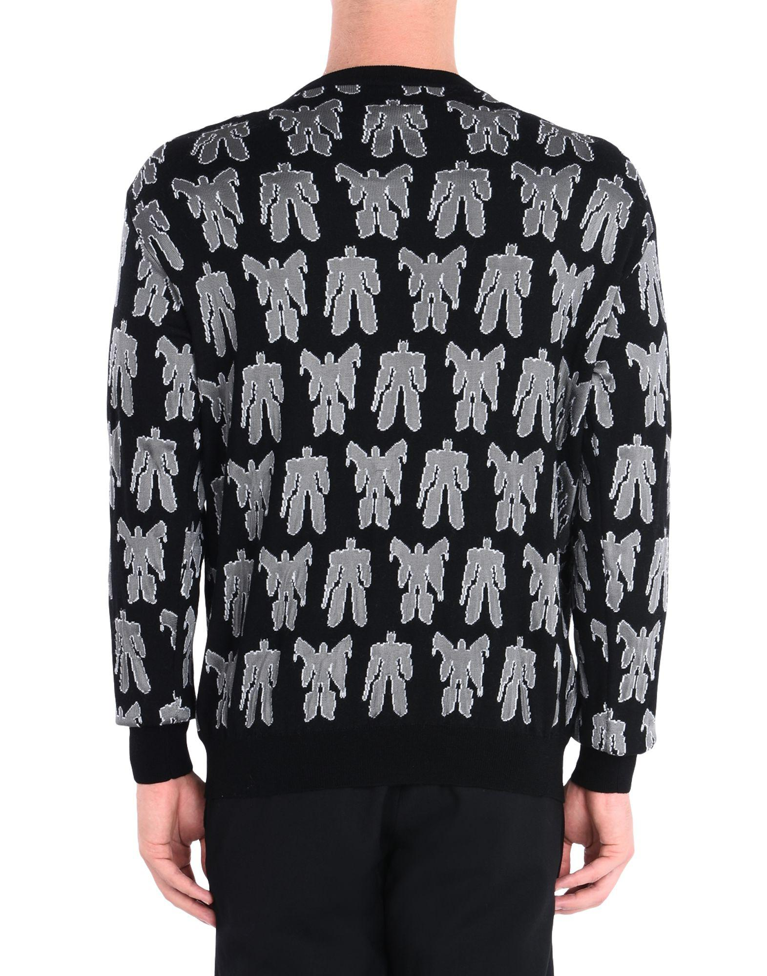 Moschino Wool Sweater in Black for Men