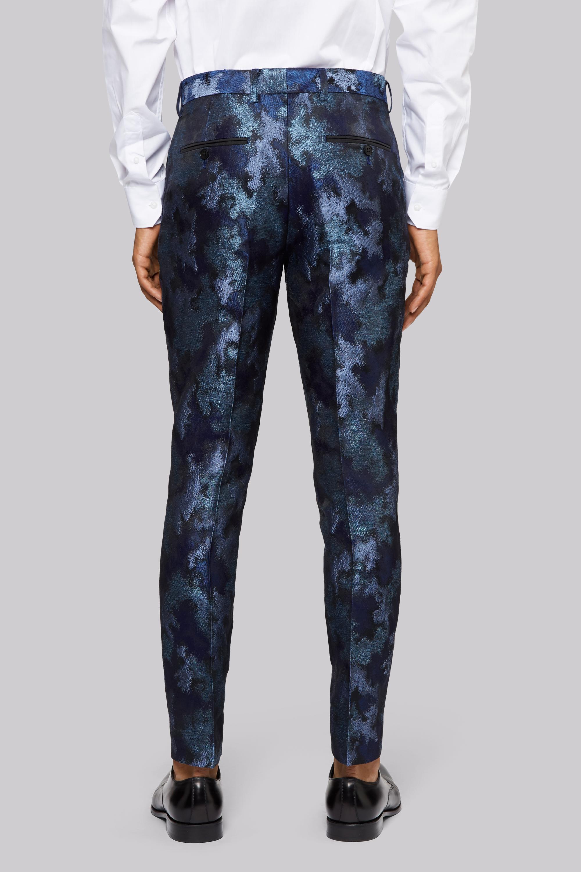 Moss London Synthetic Blue Merman Trousers for Men