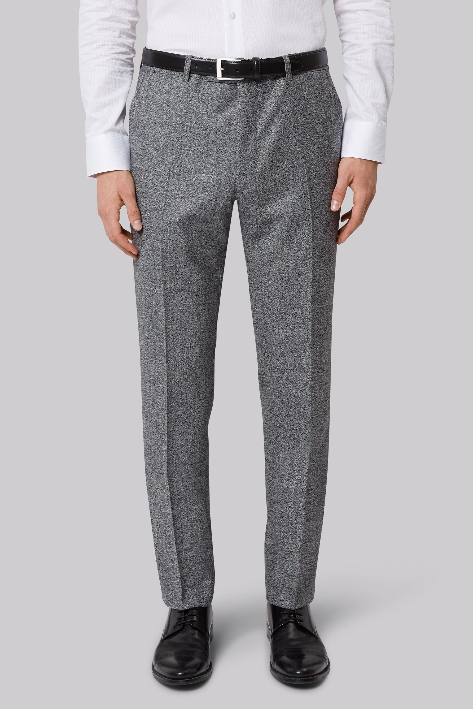 French connection slim fit light grey texture trousers in for Tailored fit shirts meaning