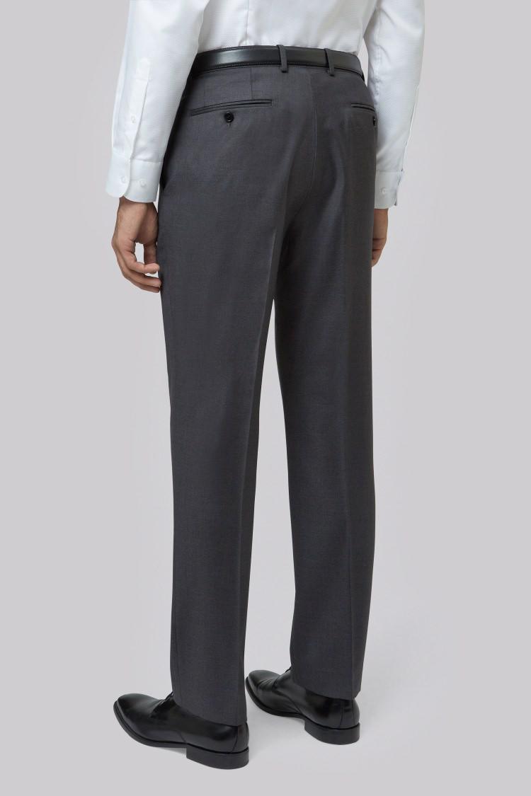 Lanificio F.lli Cerruti Dal 1881 Wool Cloth Tailored Fit Charcoal Trouser in Grey for Men
