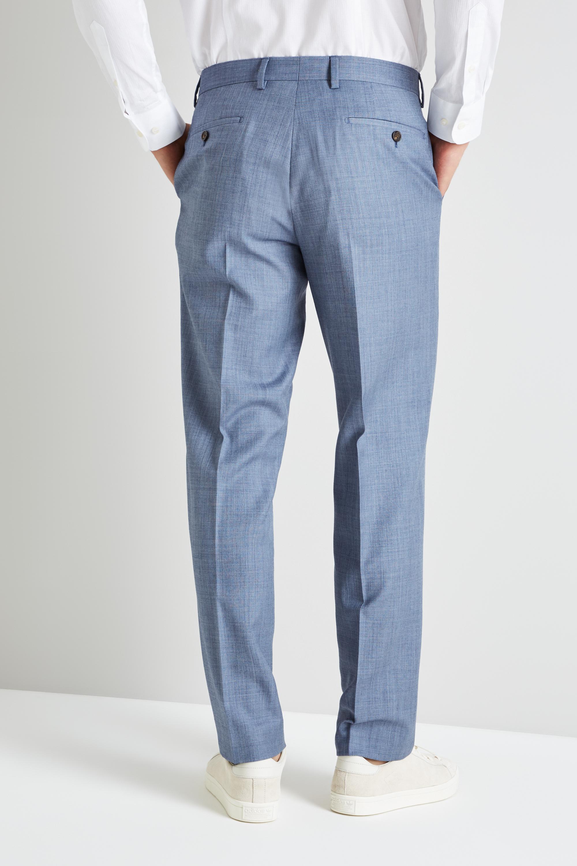 62d054543e904 Ted Baker - Metallic Gold Tailored Fit Light Blue Sharkskin Trouser for Men  - Lyst. View fullscreen