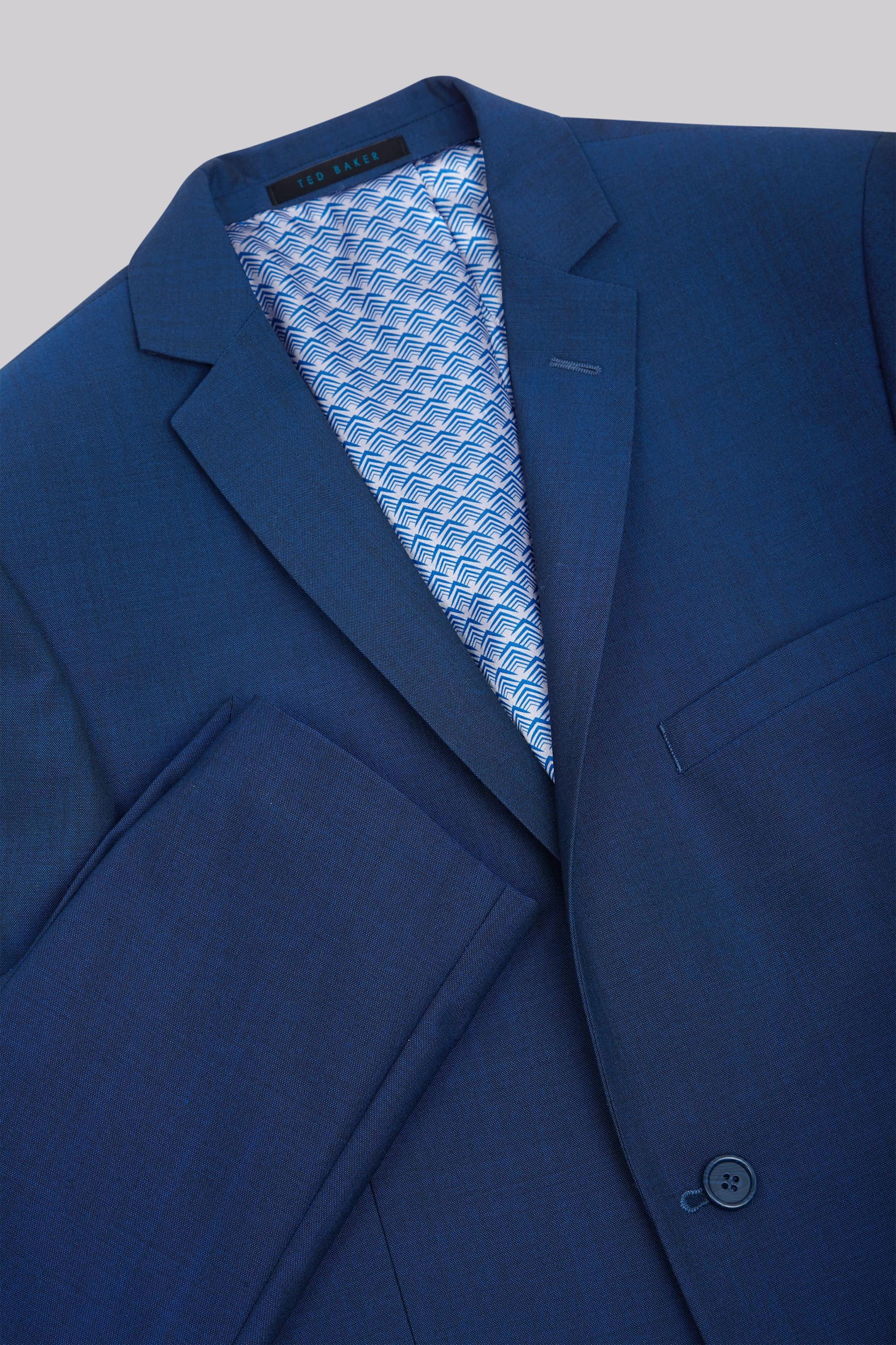 Ted Baker Tailored Fit Teal Mohair Look Jacket in Blue for Men