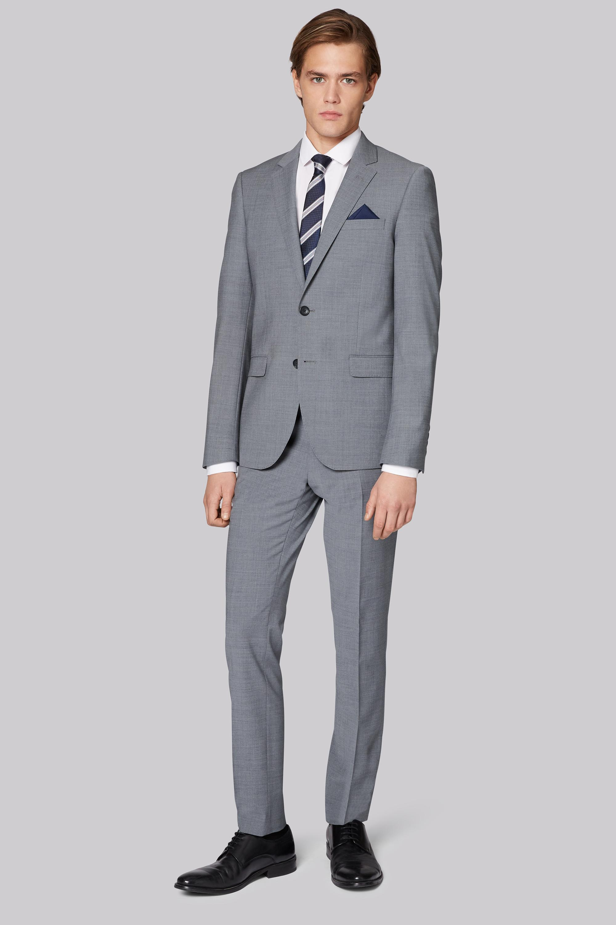 1a7380ad22a Moss London - Gray Performance Skinny Fit Light Grey Jacket for Men - Lyst.  View fullscreen