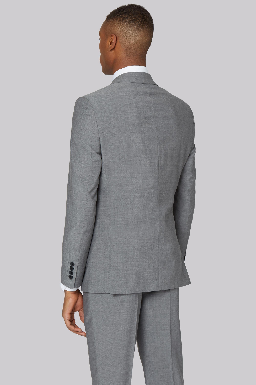 DKNY Slim Fit Light Grey Jacket in Grey for Men