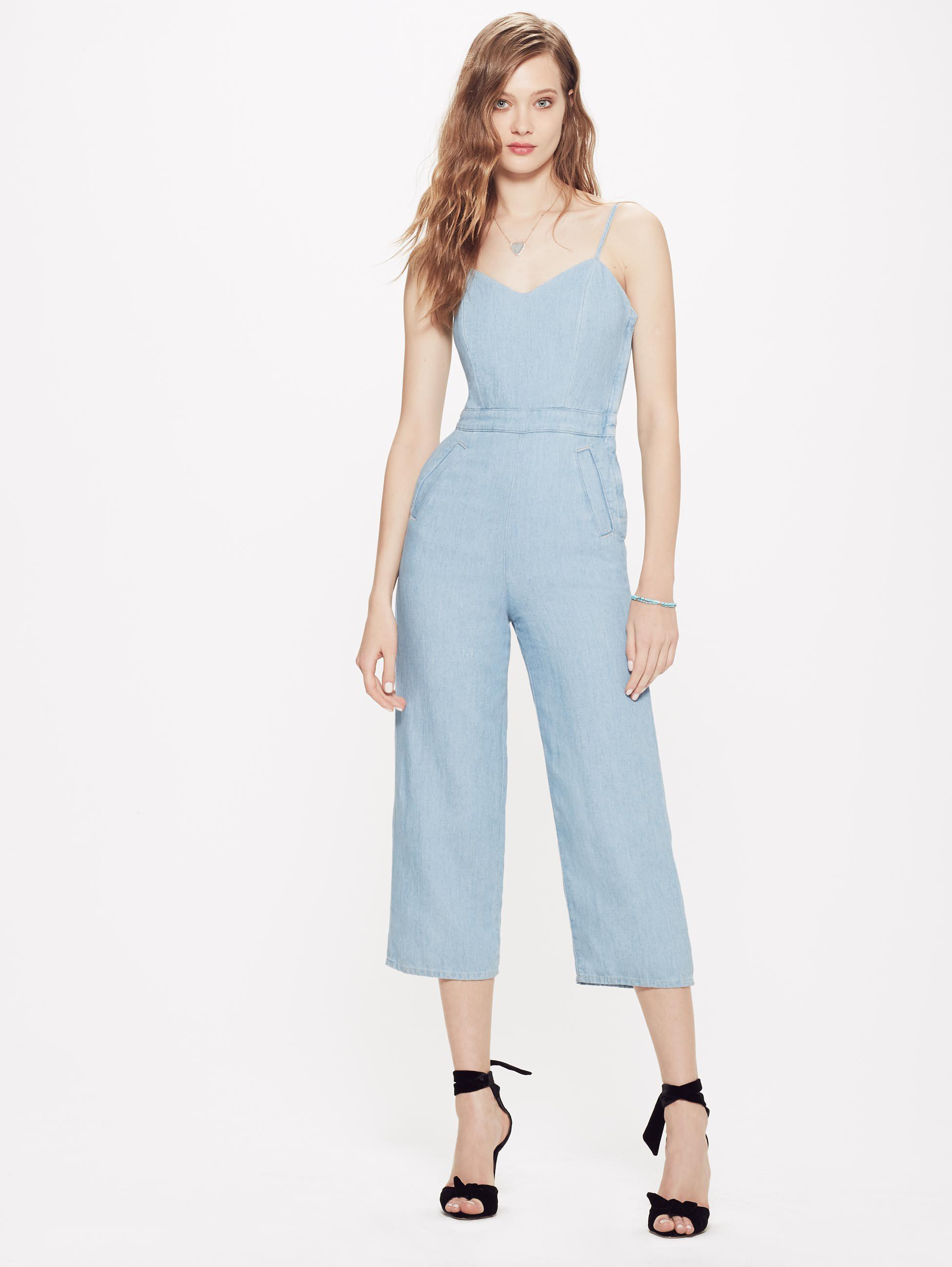 43d16ba41fa Mother Denim The Cut It Out Jumpsuit Songbird in Blue - Lyst