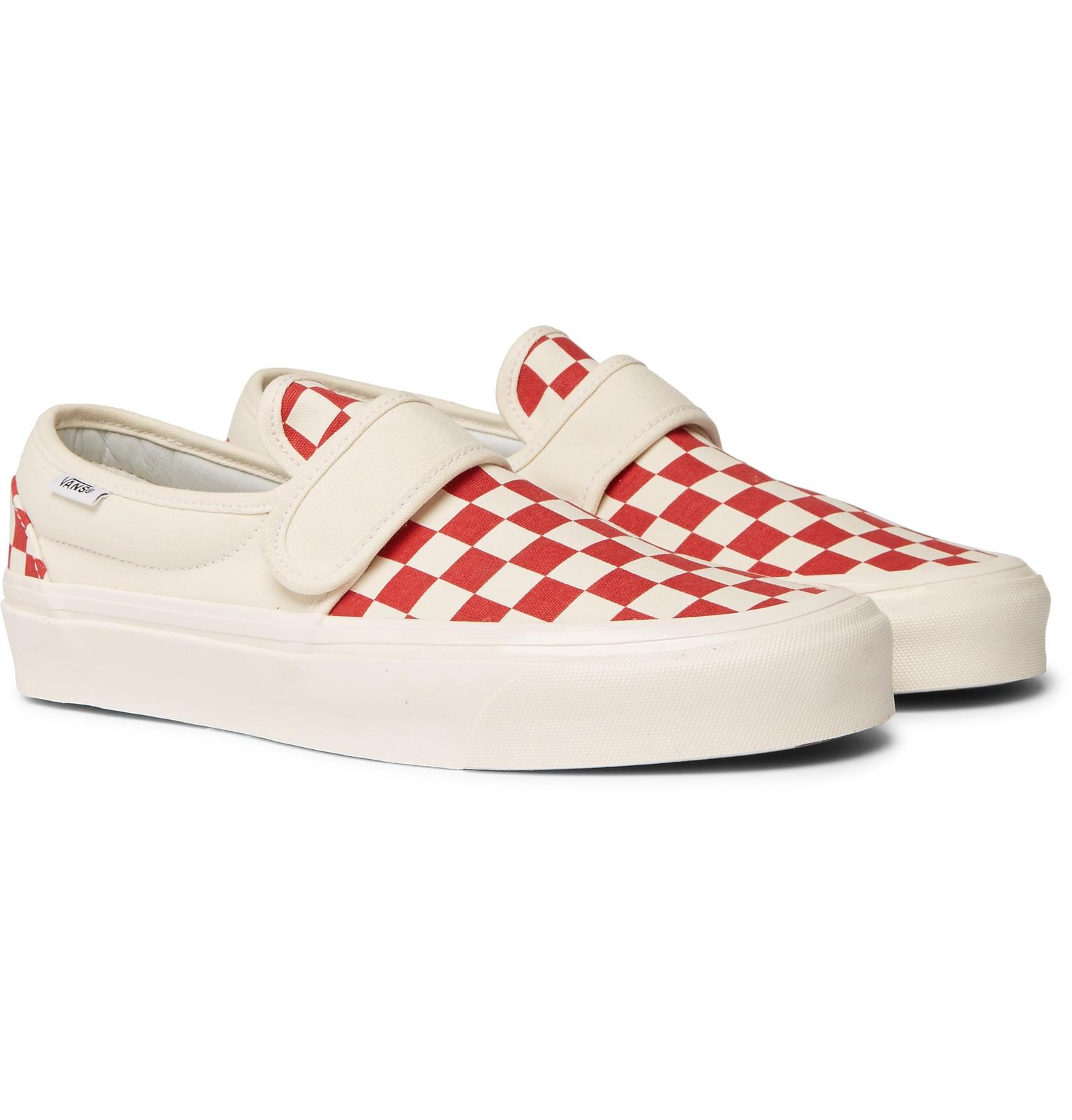 22df2e898a47 Vans Anaheim Factory 47 V Dx Checkerboard Canvas Sneakers in Red for ...