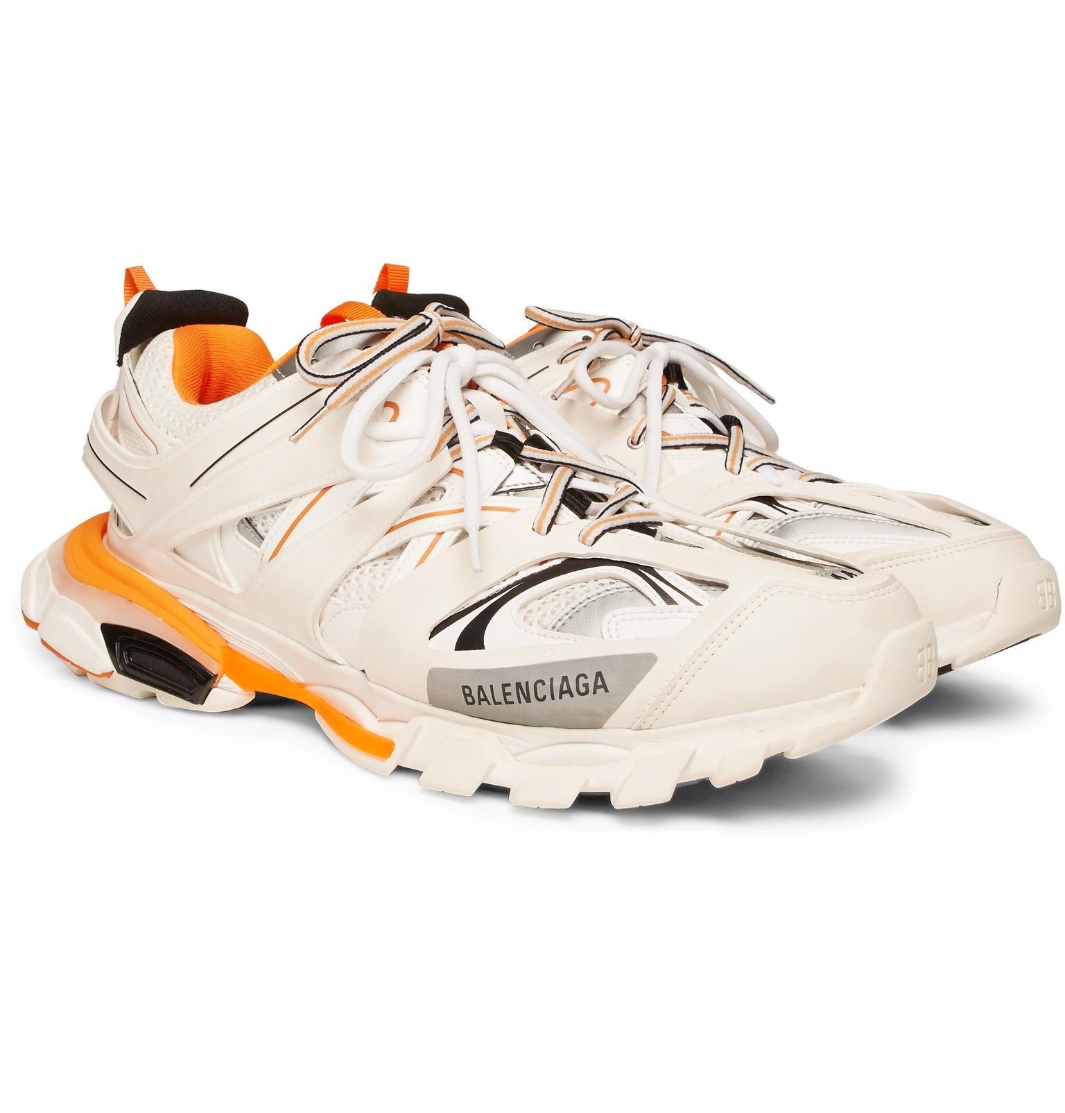 4b58c851ded46 Lyst - Balenciaga Track Mesh Running Sneakers in White for Men