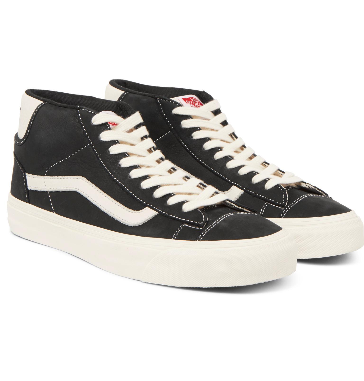 Vans Rubber Og Mid Skool Lx Nubuck High-top Sneakers in Black for ...