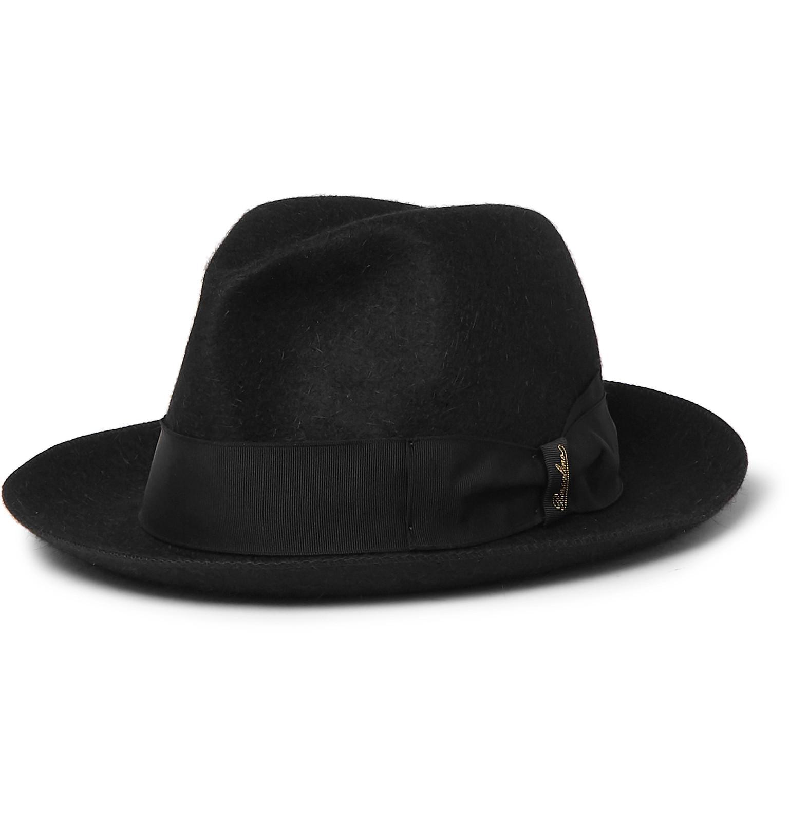 f10ed560066 Lyst - Borsalino Traveller Rabbit-felt Hat in Black for Men