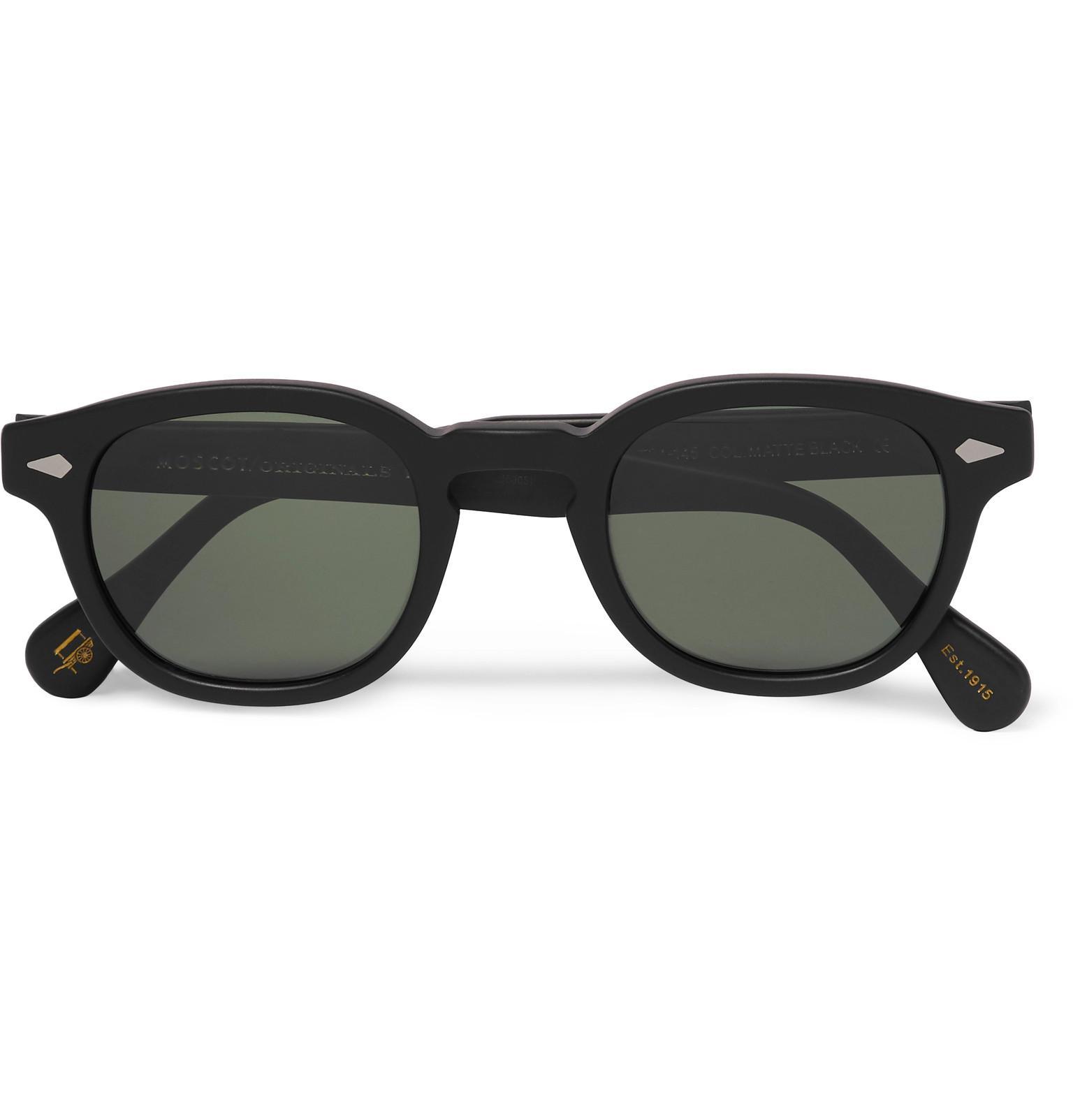 6be126601cef Moscot Lemtosh Round-frame Matte-acetate Sunglasses in Black for Men ...