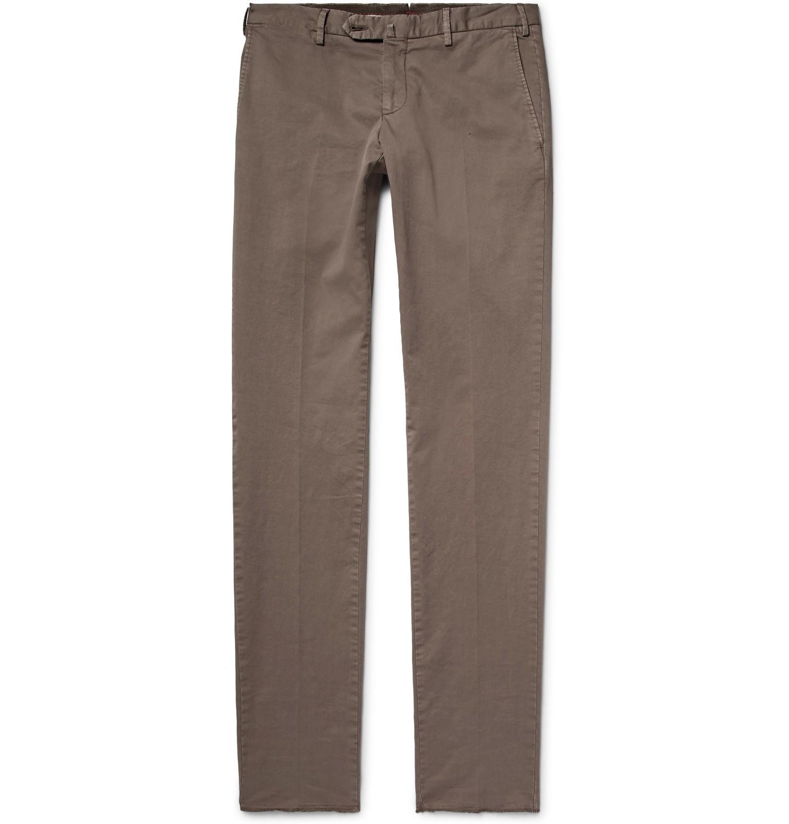 para algodón Pantalones sarga Isaia hombre de de 4q4Fxp1