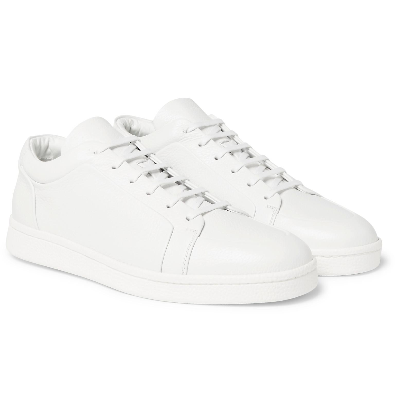 promo code 0d94d 2c1f2 Balenciaga Urban Low Textured-leather Sneakers in White for Men - Lyst