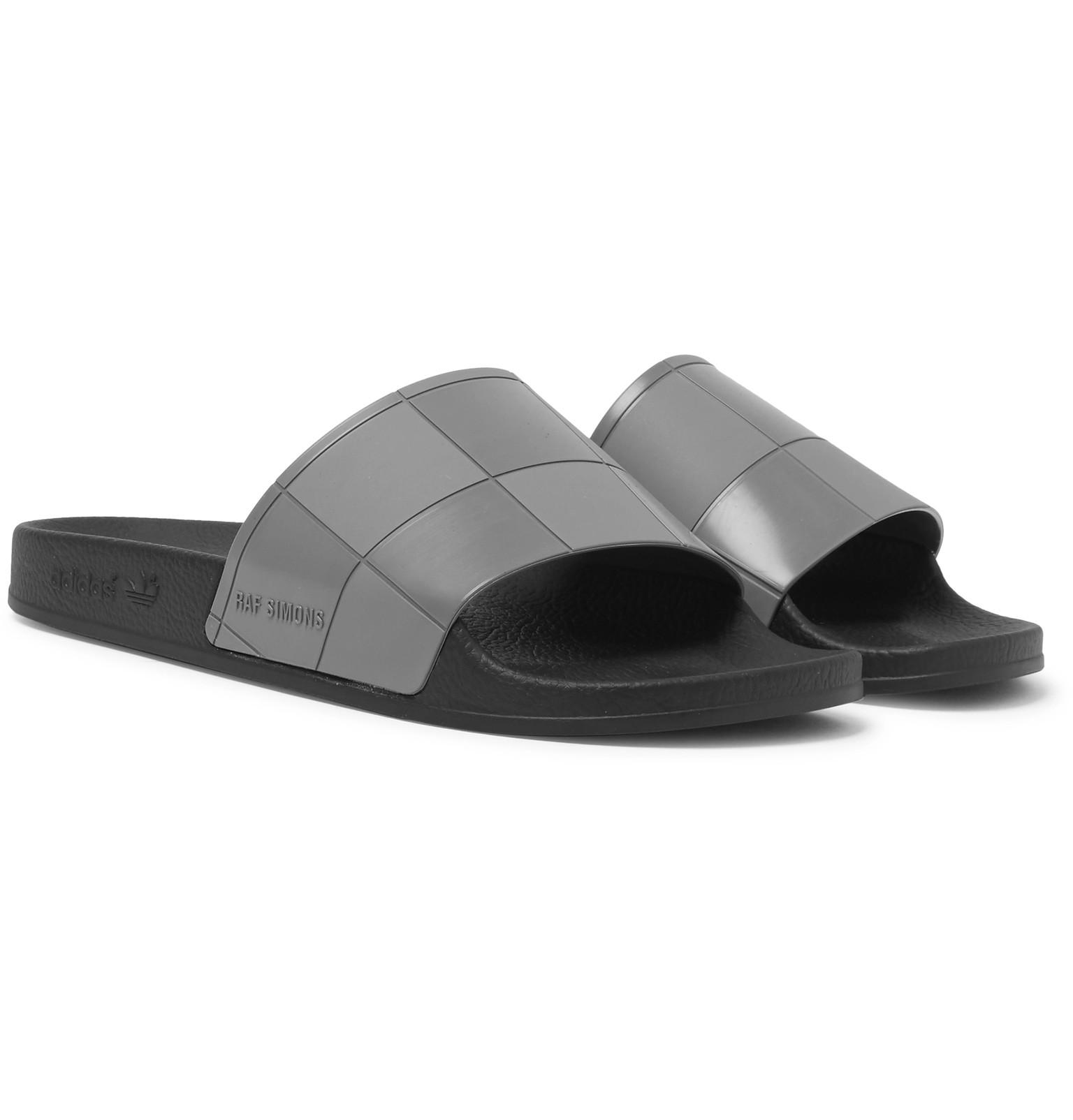 Lyst - Raf Simons Adidas Originals Adilette Rubber Slides in Gray ... cdca12987
